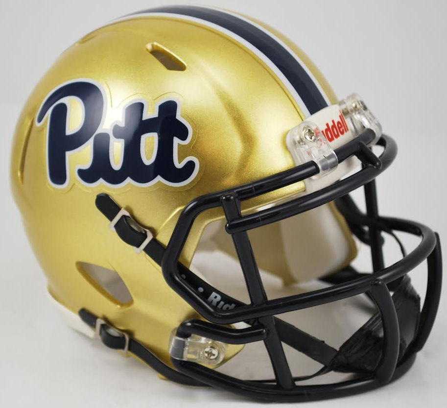 Pittsburgh Panthers NCAA Mini Speed Football Helmet <B>Pitt Script</B>