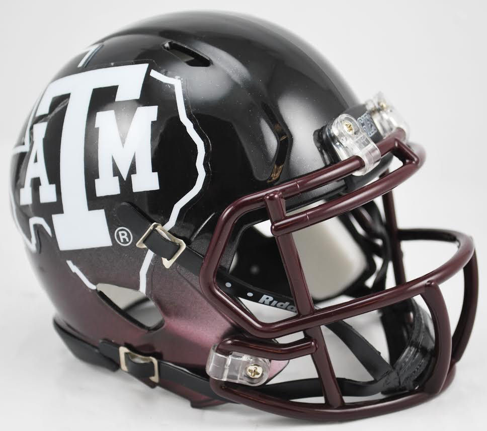 Texas A&M Aggies NCAA Mini Speed Football Helmet <B>2012 Black</B>