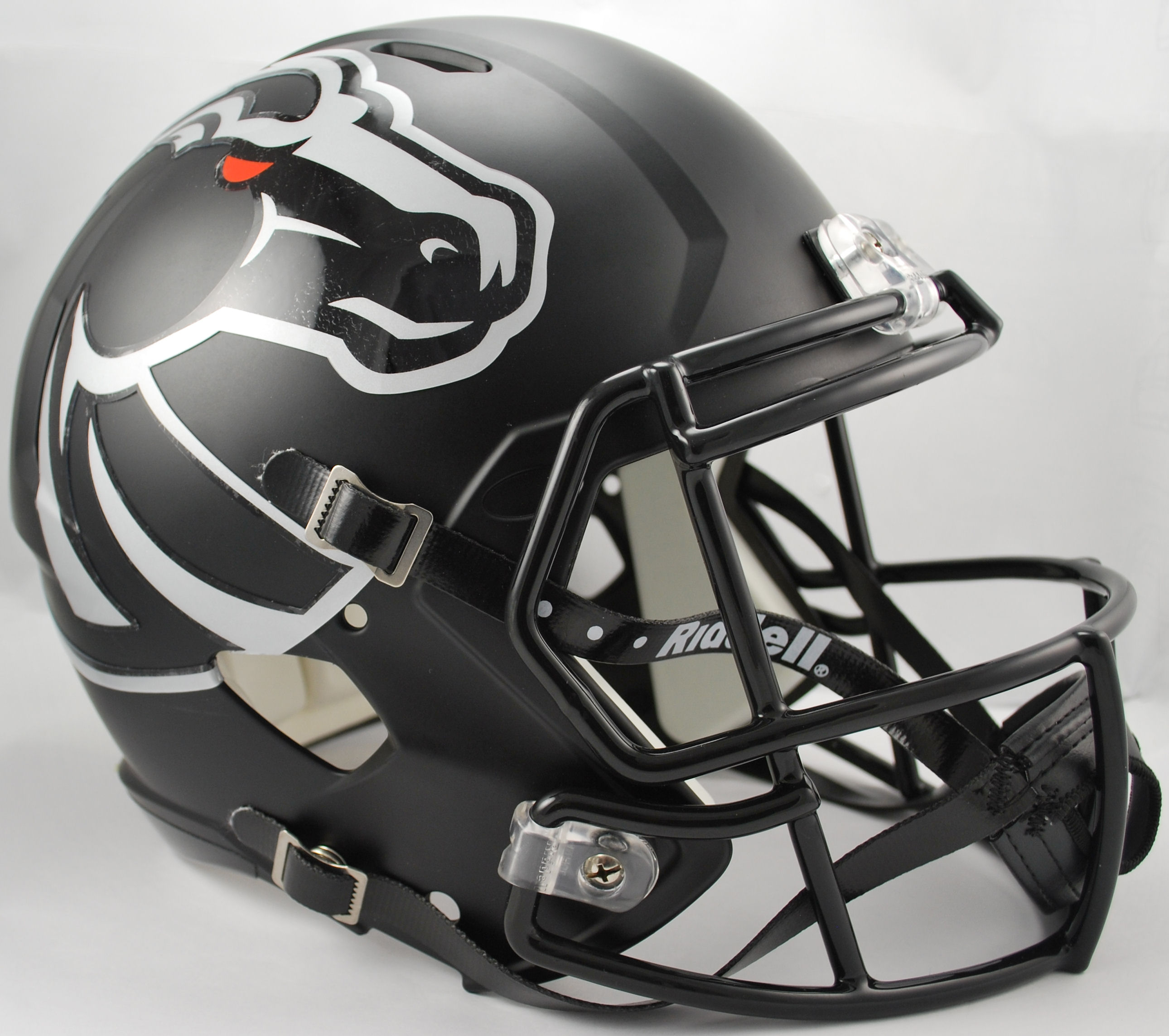Boise State Broncos Speed Replica Football Helmet <B>Matte Black</B>