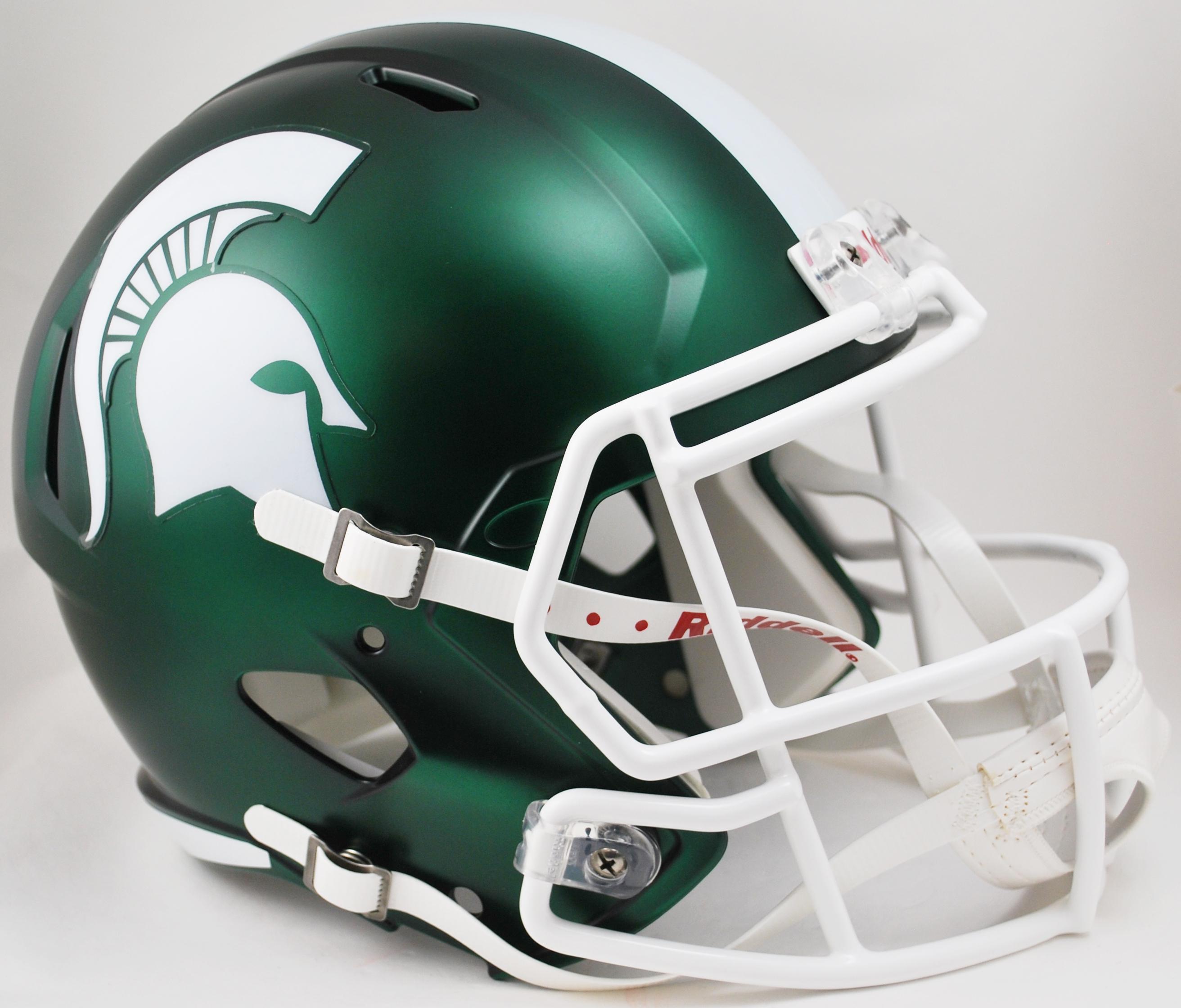 Michigan State Spartans Speed Replica Football Helmet <B>Satin Green</B>