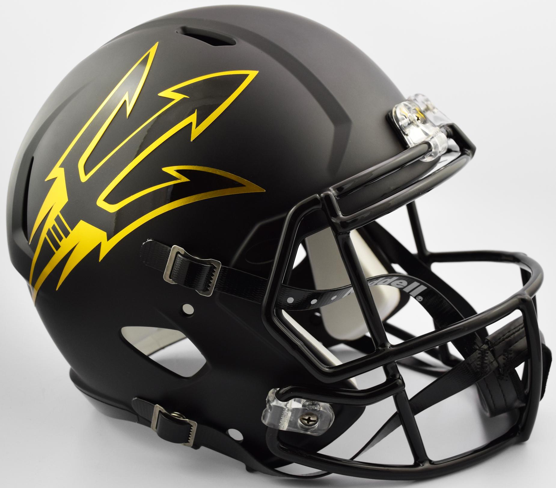 Arizona State Sun Devils Speed Replica Football Helmet <B>Satin Black</B>