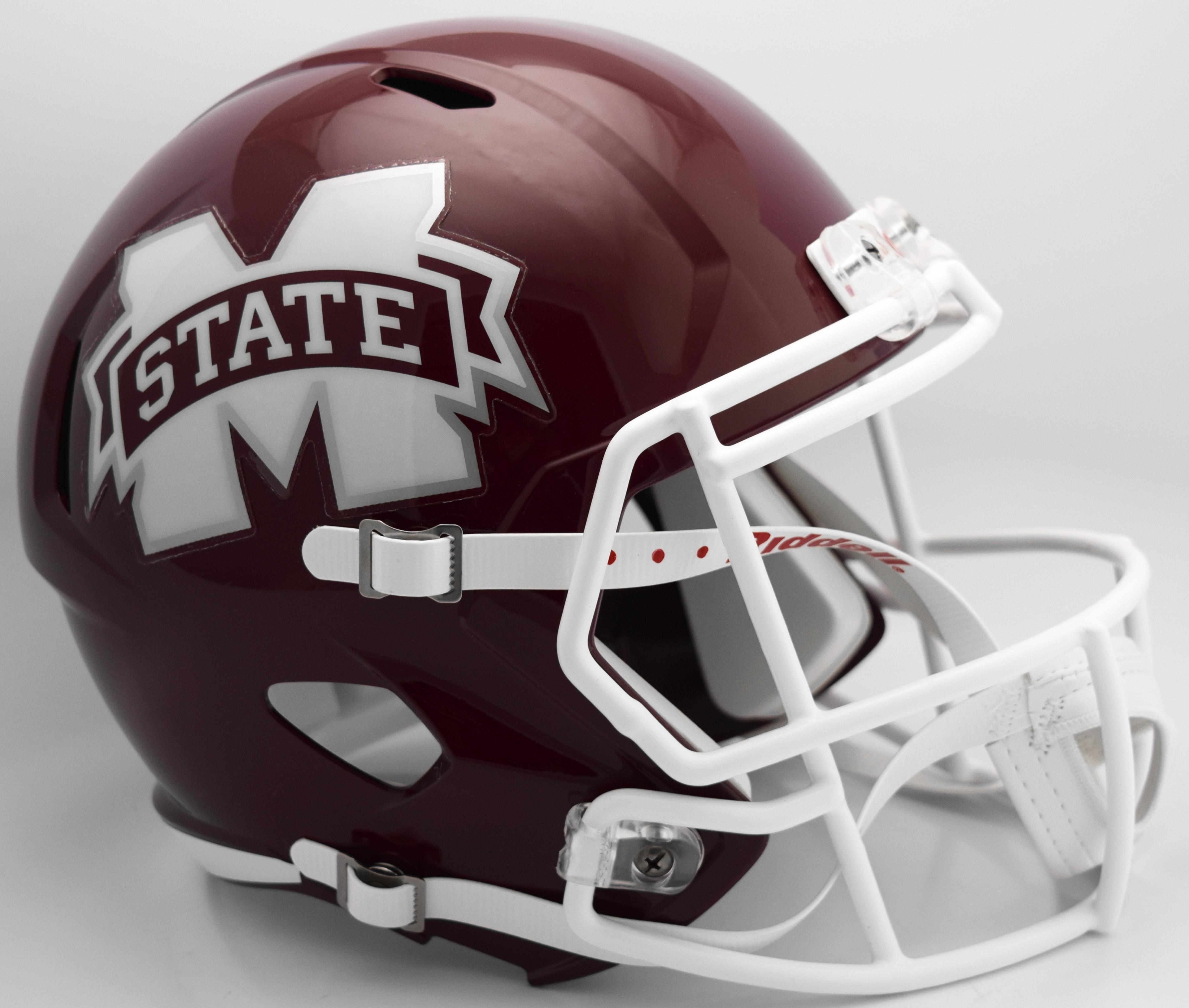 Mississippi State Bulldogs Speed Replica Football Helmet <B>2016 M State</B>