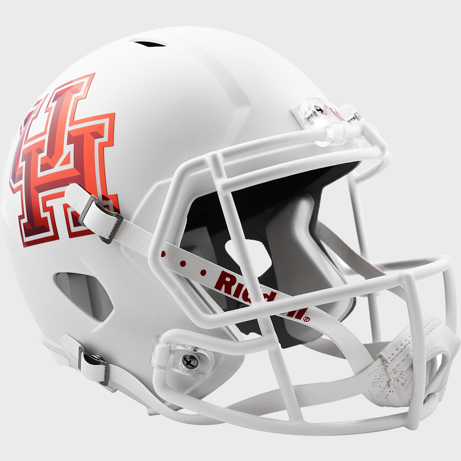 Houston Cougars Speed Replica Football Helmet <B>Matte White</B>