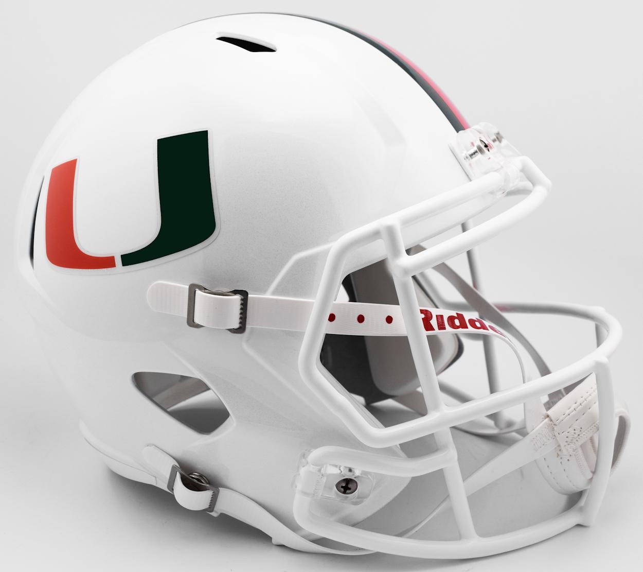 Miami Hurricanes Speed Replica Football Helmet