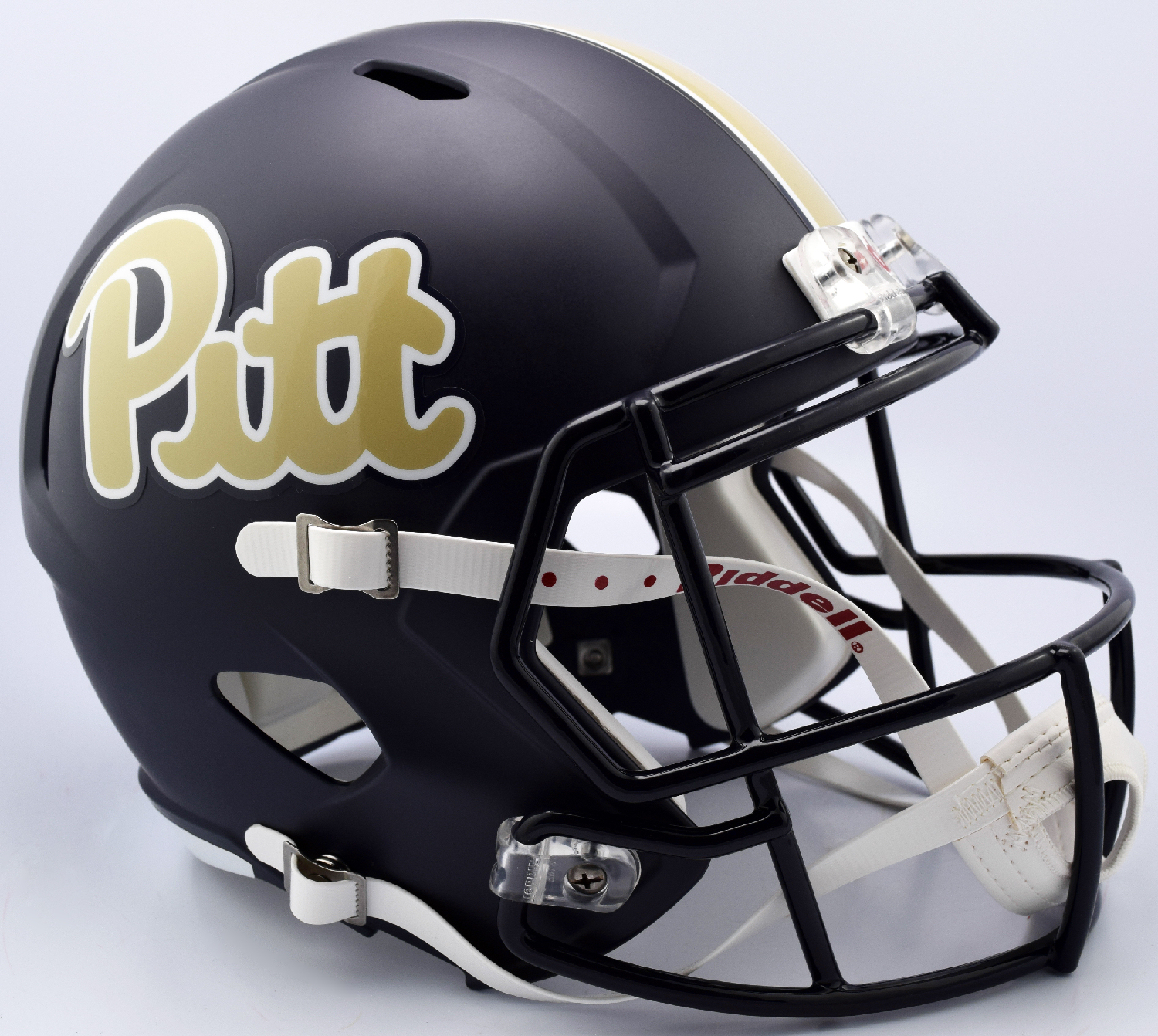 Pittsburgh Panthers Speed Replica Football Helmet <B>Matte Navy Script</B>