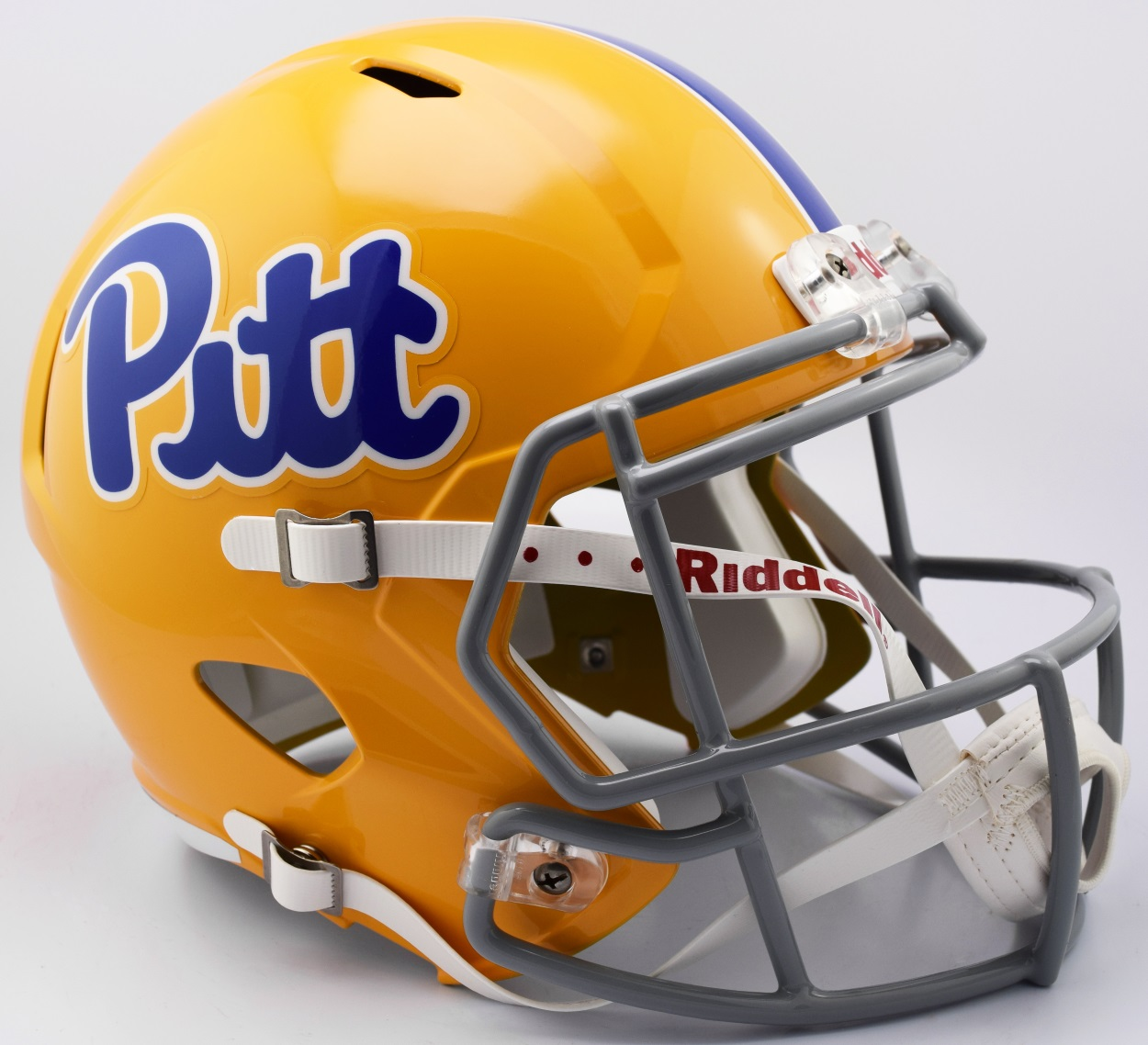 Pittsburgh Panthers Speed Replica Football Helmet <B>Script Gold TB</B>
