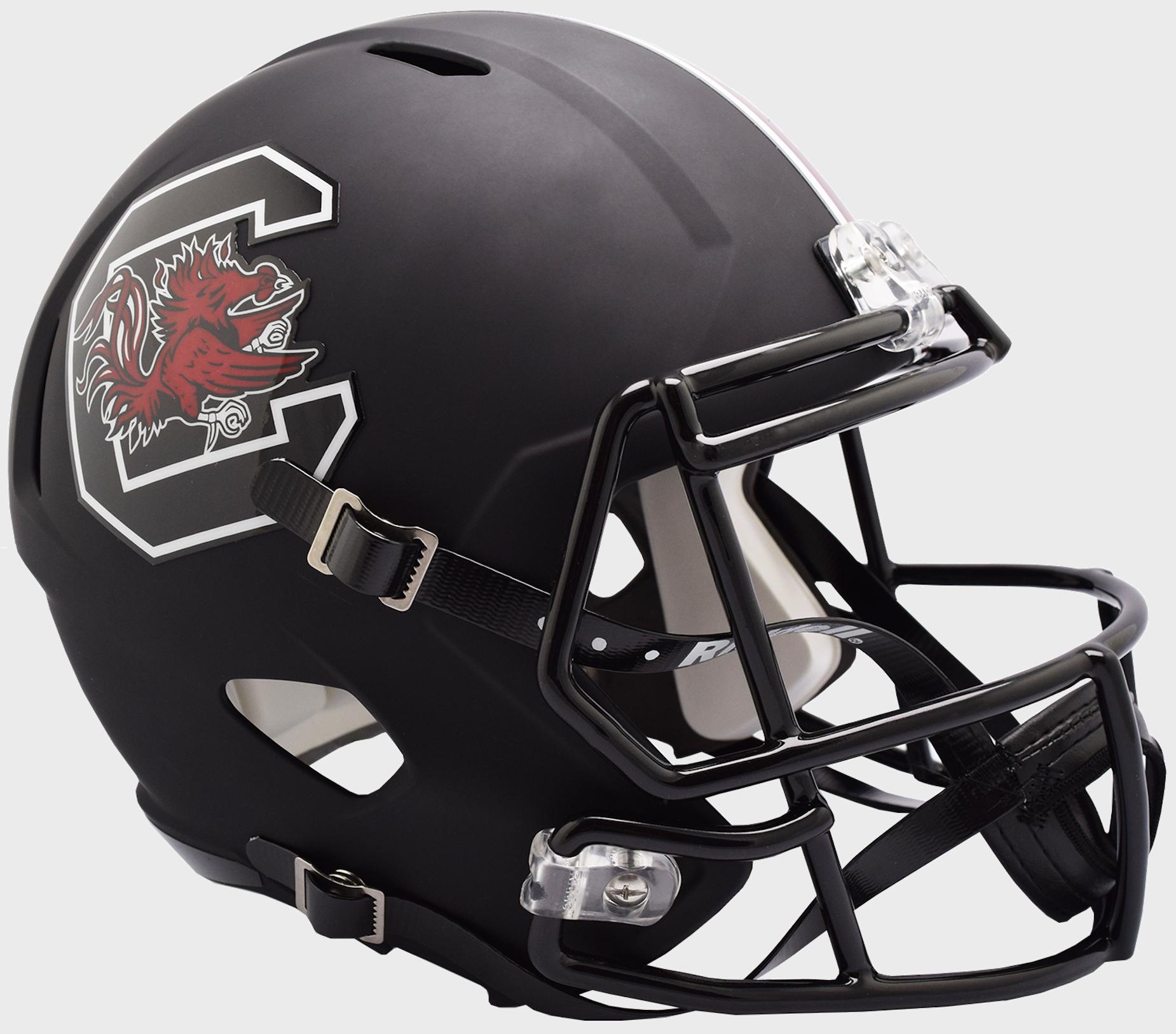 South Carolina Gamecocks Speed Replica Football Helmet <B>Matte Black</B>