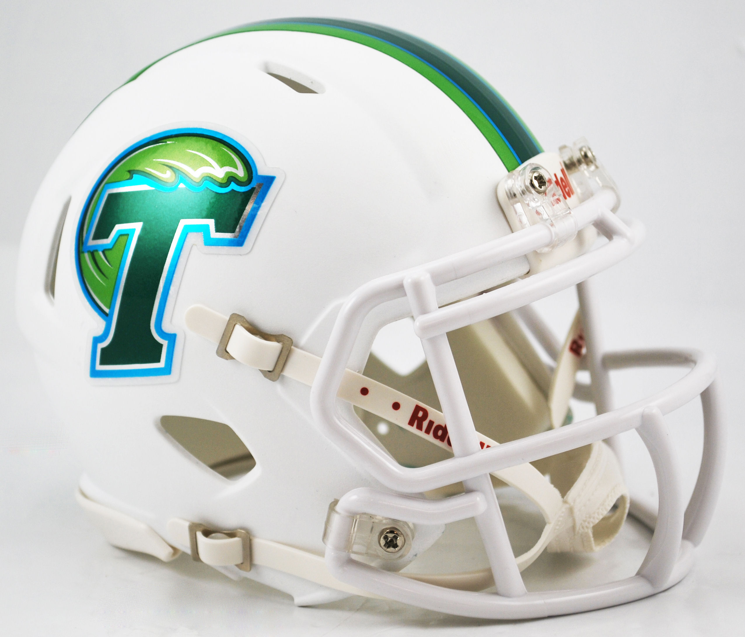 Tulane Green Wave NCAA Mini Speed Football Helmet <B>Matte White</B>