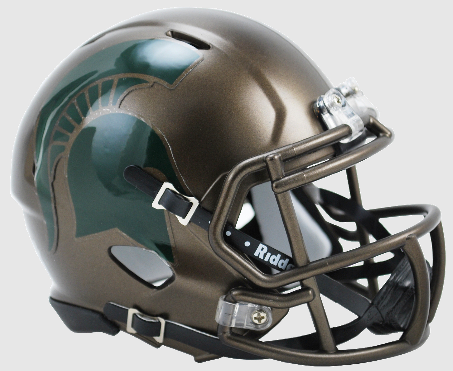 Michigan State Spartans NCAA Mini Speed Football Helmet <B>Bronze SALE</B>