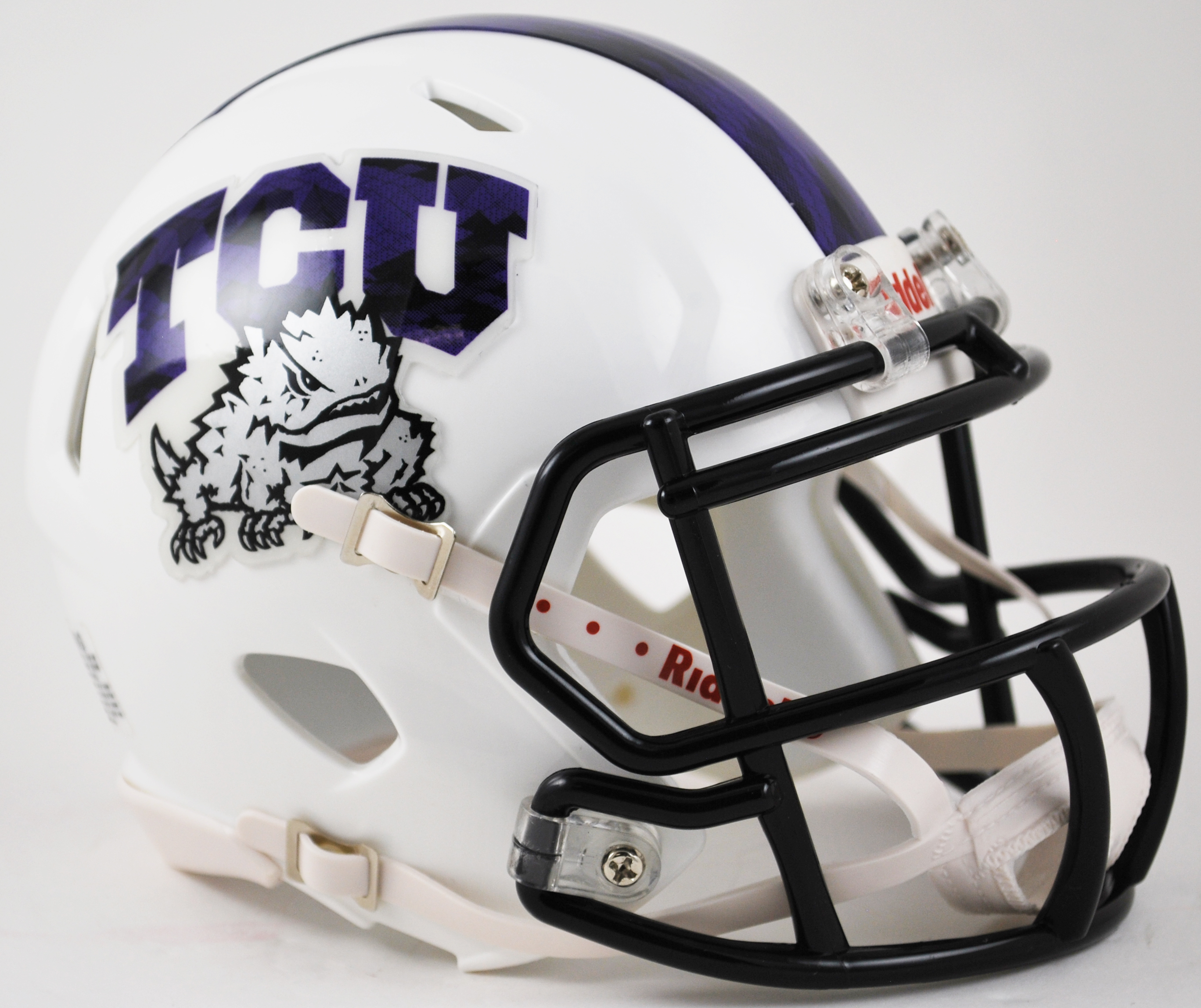 TCU Horned Frogs NCAA Mini Speed Football Helmet <B>2015 Frog Skin</B>