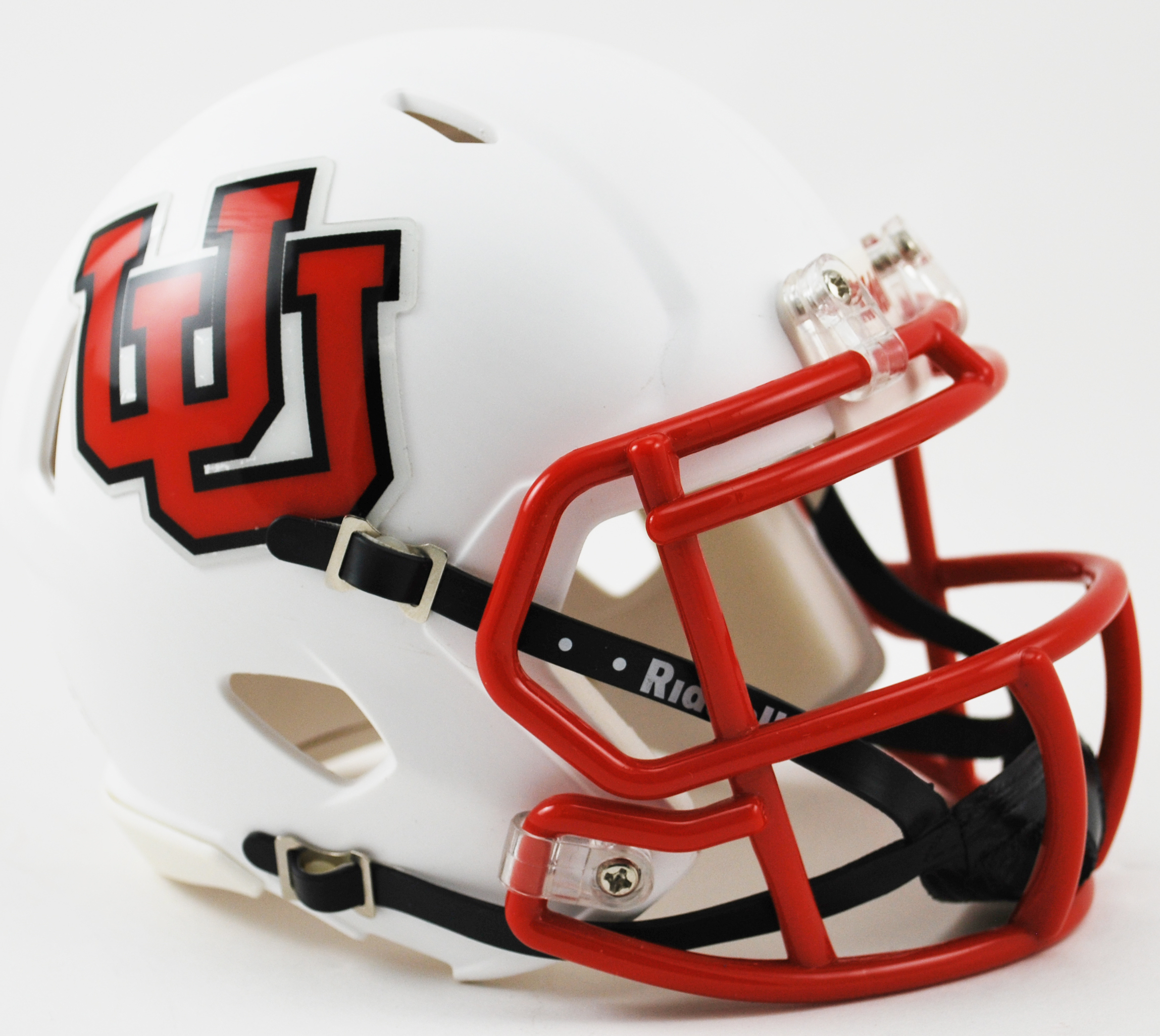 Utah Utes NCAA Mini Speed Football Helmet <B>Interlocking U</B>