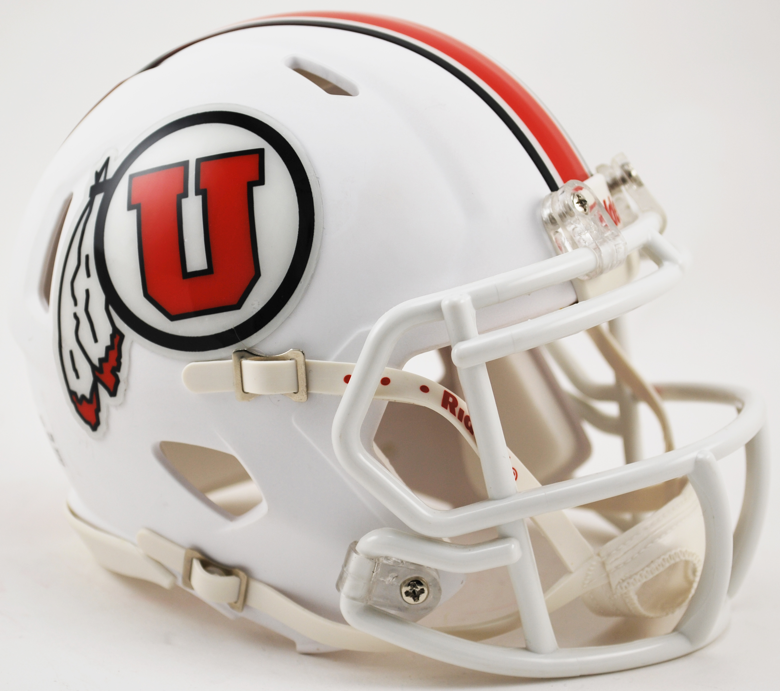 Utah Utes NCAA Mini Speed Football Helmet <B>Matte White 2015</B>