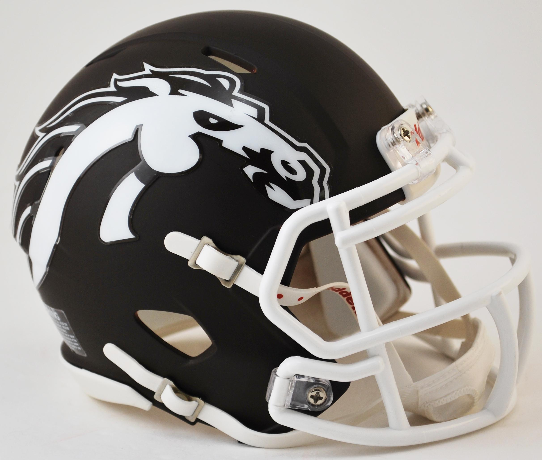 Western Michigan Broncos NCAA Mini Speed Football Helmet <B>Matte Brown</B>