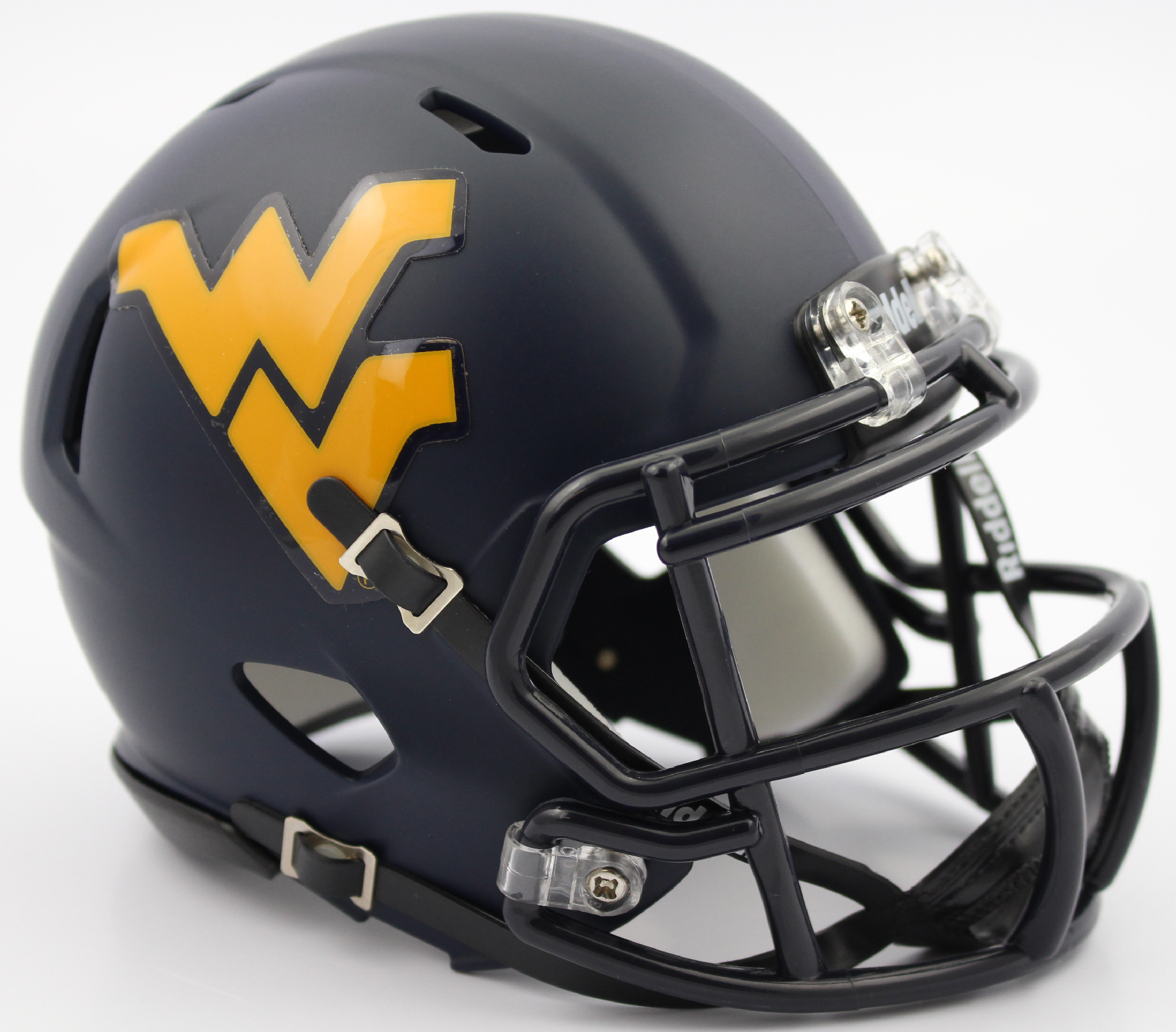 West Virginia Mountaineers NCAA Mini Speed Football Helmet <B>2016 Satin Navy</B>