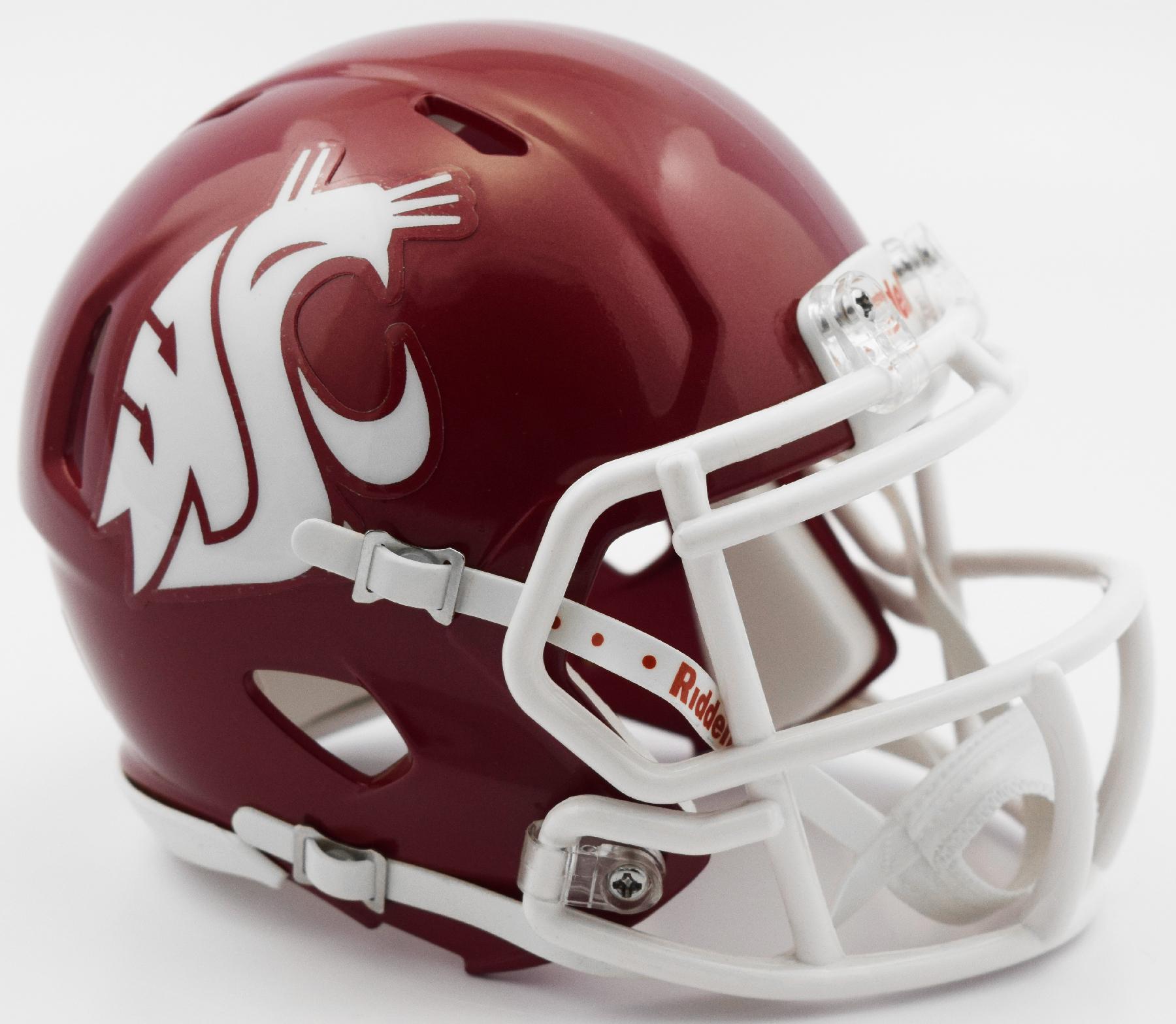 Washington State Cougars NCAA Mini Speed Football Helmet <B>2016 Crimson</B>