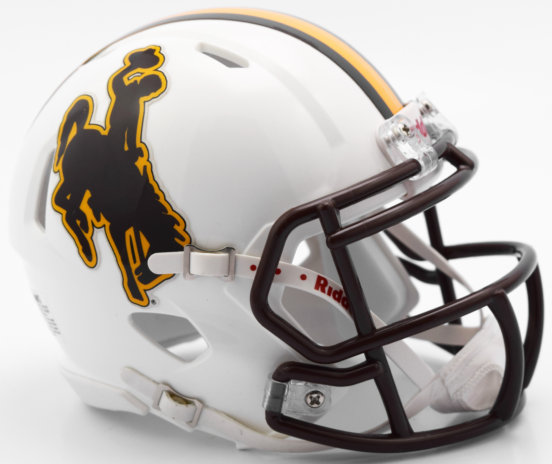 Wyoming Cowboys NCAA Mini Speed Football Helmet <B>New 2016</B>