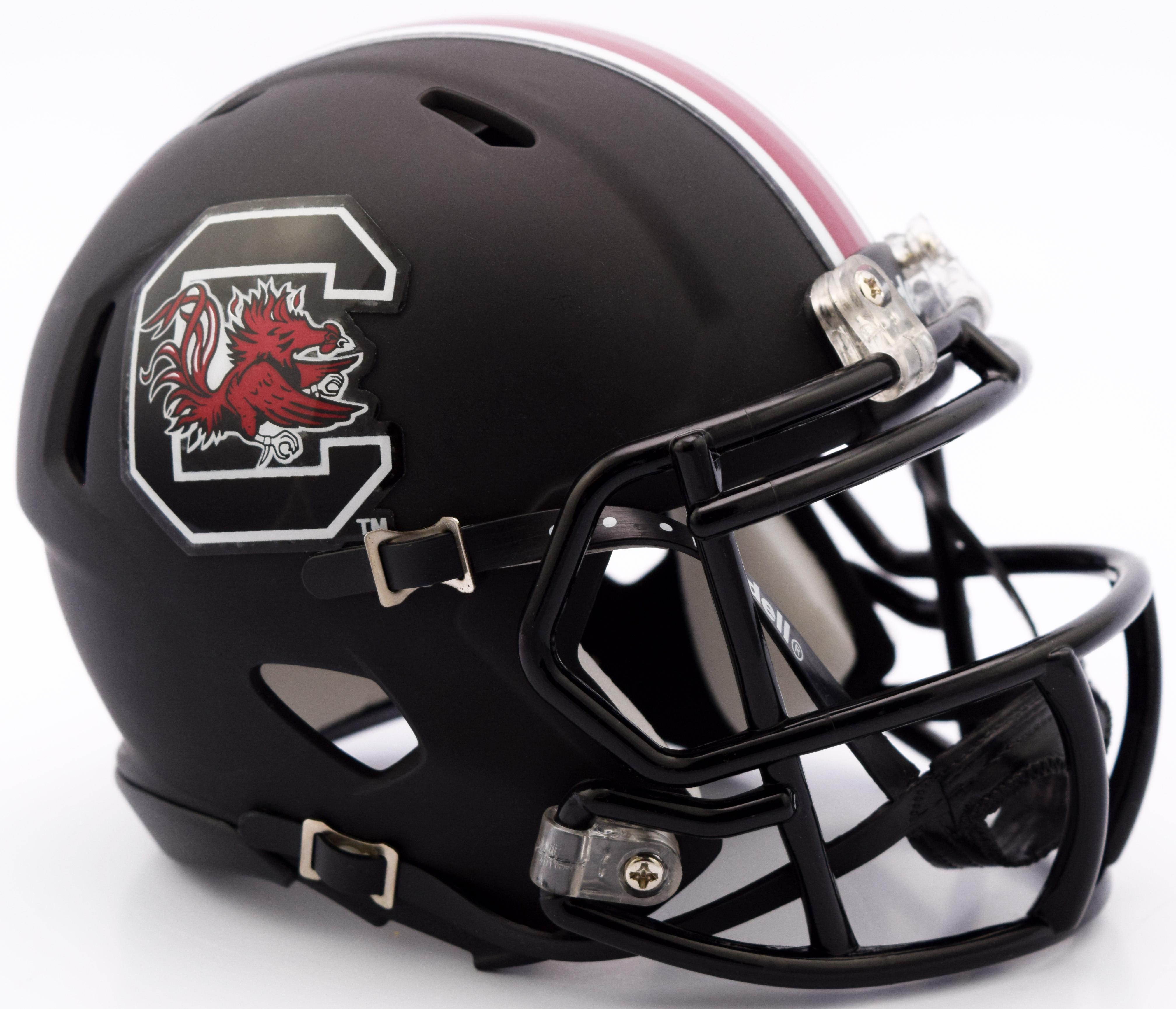South Carolina Gamecocks NCAA Mini Speed Football Helmet <B>Matte Black</B>