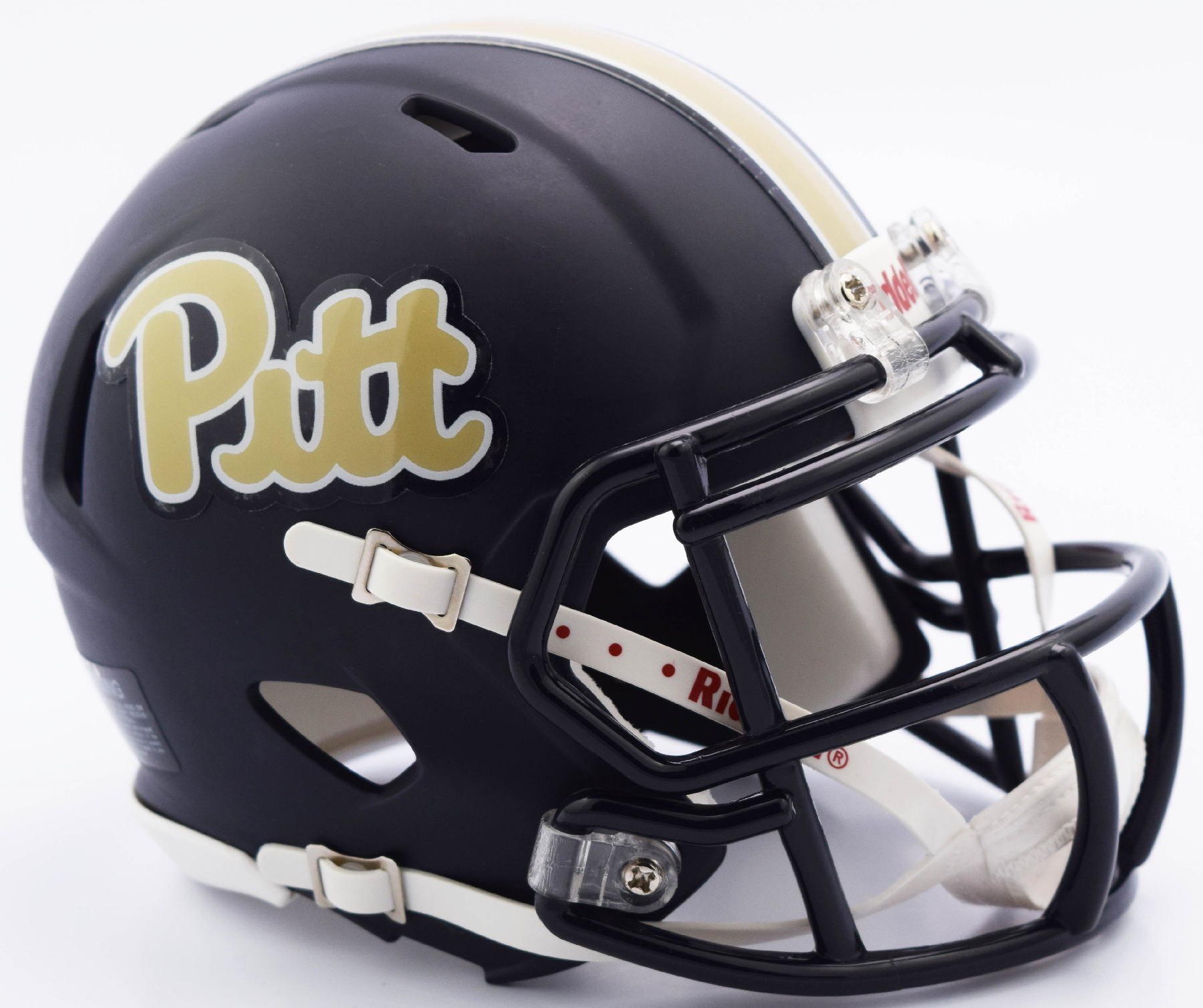 Pittsburgh Panthers NCAA Mini Speed Football Helmet <B>Matte Navy Script</B>