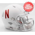 Helmets, Mini Helmets: Nebraska Cornhuskers NCAA Mini Speed Football Helmet <B>2016 Chrome Mask</B...