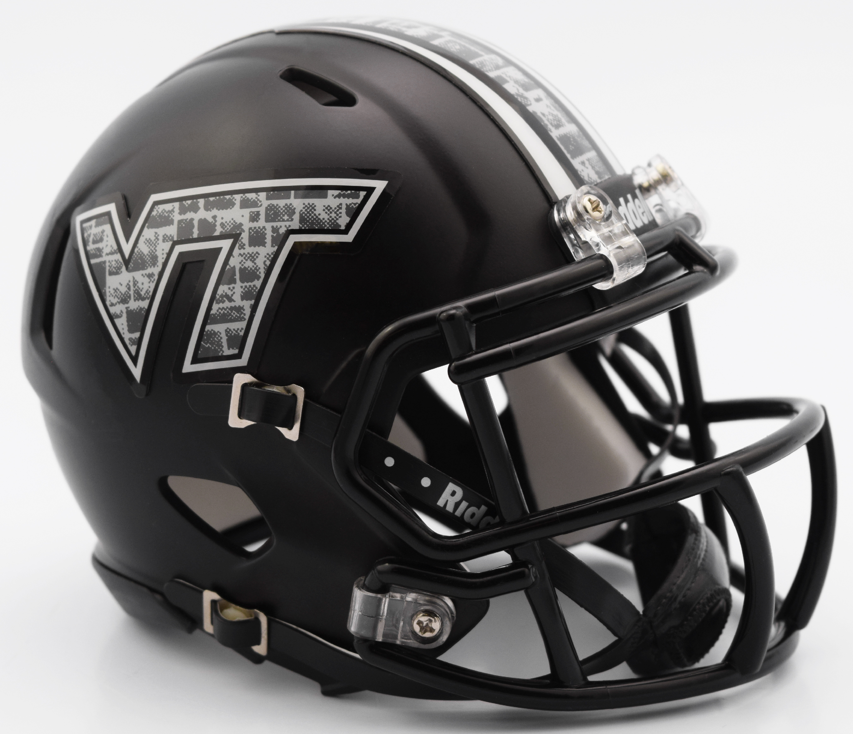 Virginia Tech Hokies NCAA Mini Speed Football Helmet <B>Matte Black</B>