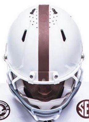 Texas A&M Aggies NCAA Mini Speed Football Helmet <B>White 1956</B>