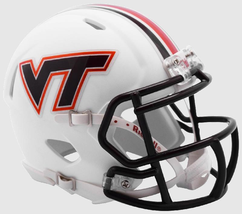 Virginia Tech Hokies NCAA Mini Speed Football Helmet <B>Matte White</B>