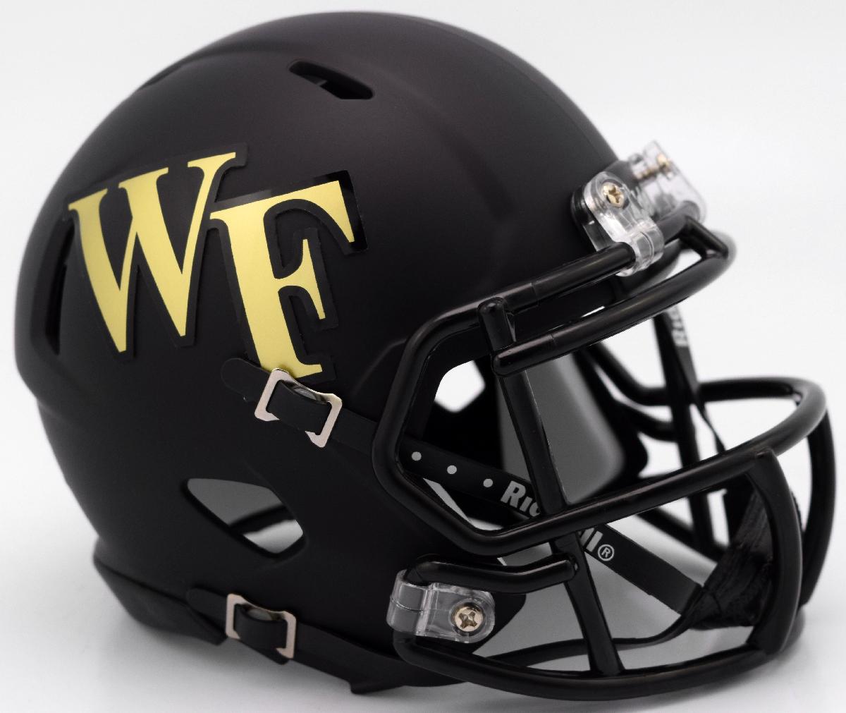 Wake Forest Demon Deacons NCAA Mini Speed Football Helmet <B>Matte Black</B>