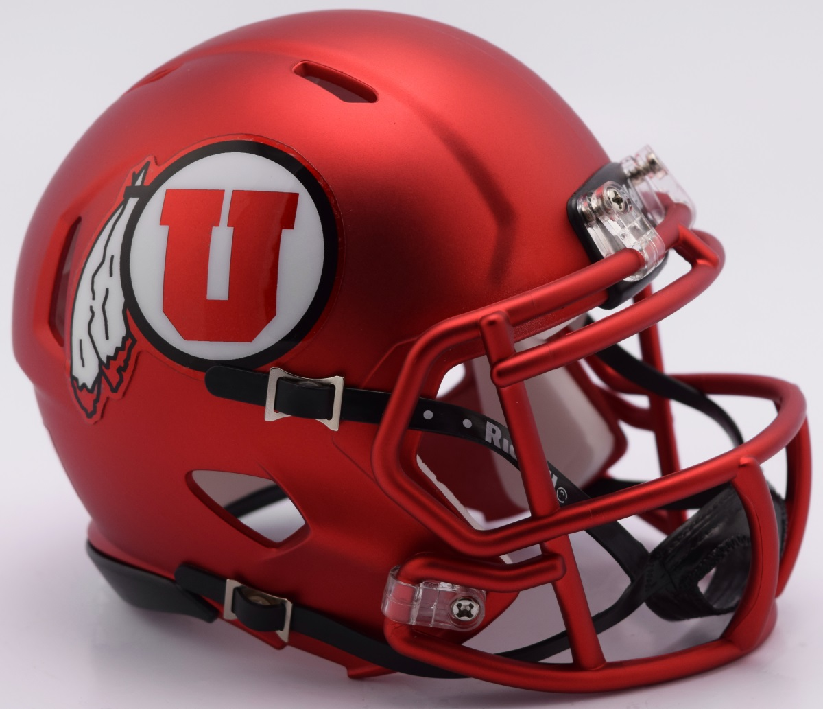 Utah Utes NCAA Mini Speed Football Helmet <B>NEW 2017 Red Pearl</B>