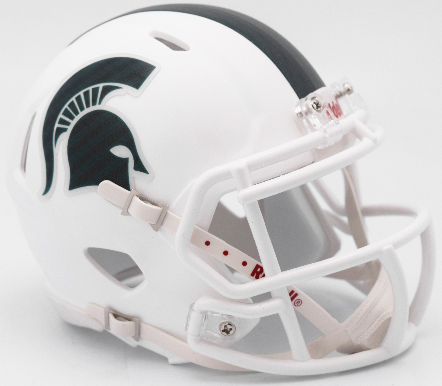 Michigan State Spartans NCAA Mini Speed Football Helmet <B>Matte White 2017 Alt</B>