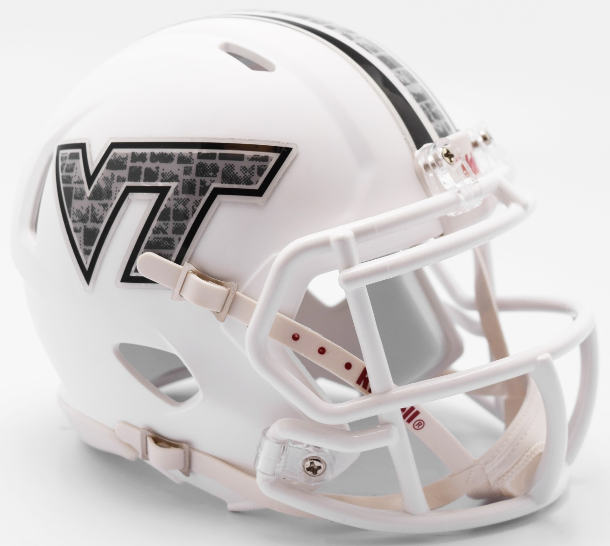 Virginia Tech Hokies NCAA Mini Speed Football Helmet <B>NEW 2017 Hokie Stone Decal</B>