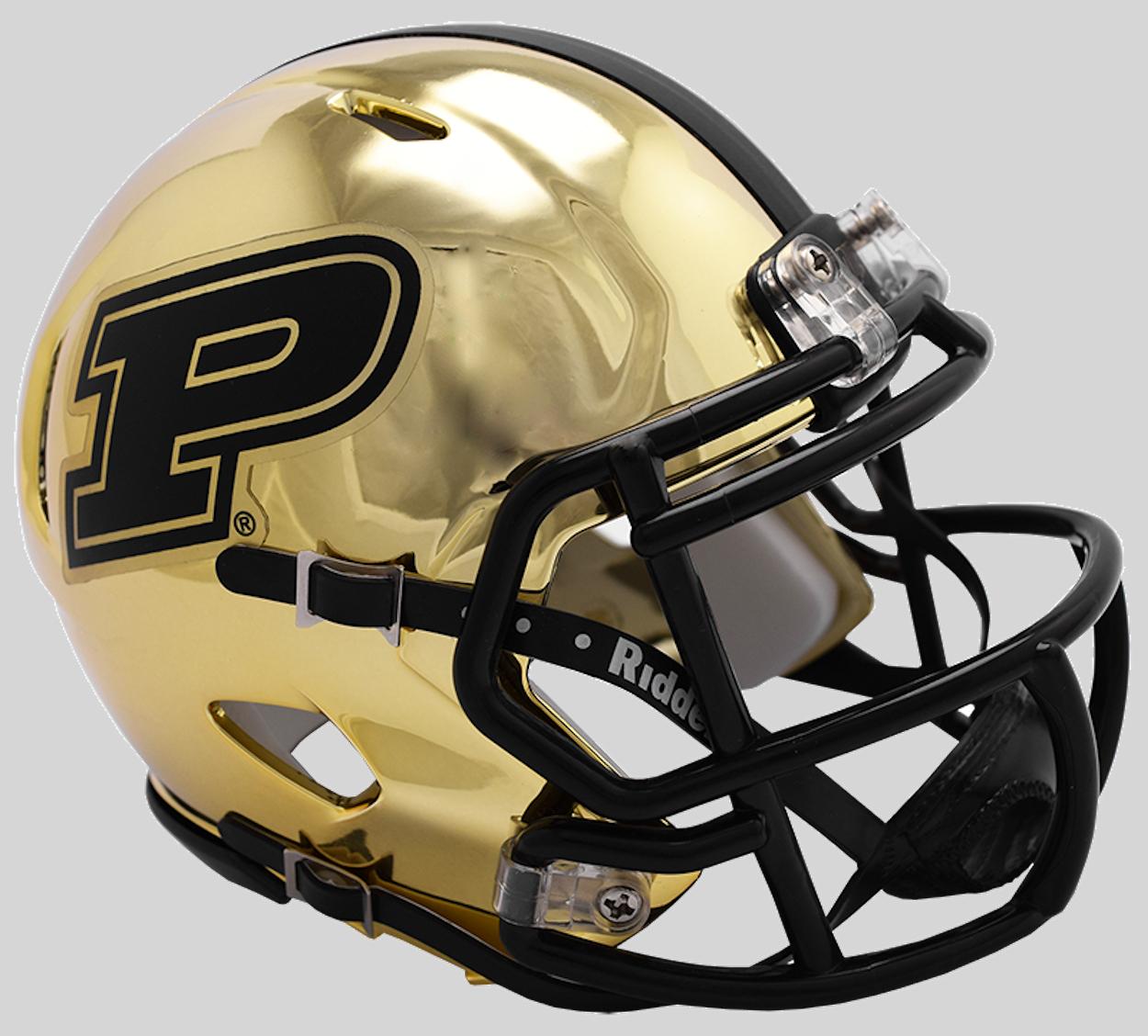 Purdue Boilermakers NCAA Mini Chrome Speed Football Helmet <B>NEW 2018 Chrome</B>
