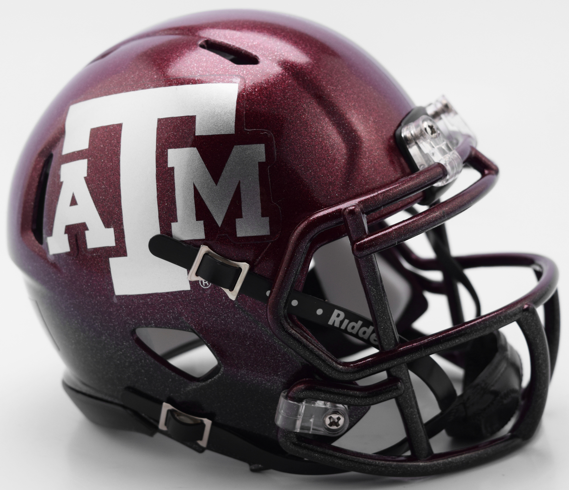 Texas A&M Aggies NCAA Mini Speed Football Helmet <B>NEW 2018 Two Tone</B>