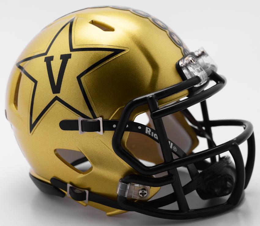 Vanderbilt Commodores NCAA Mini Speed Football Helmet <B>GOLD NEW 2018</B>