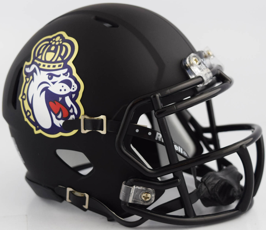 James Madison Dukes NCAA Mini Speed Football Helmet <B>NEW 2018 Matte Black</B>