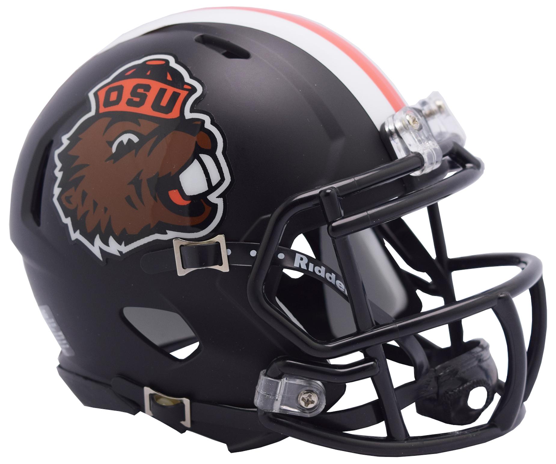 Oregon State Beavers NCAA Mini Speed Football Helmet <B>Retro Benny</B>