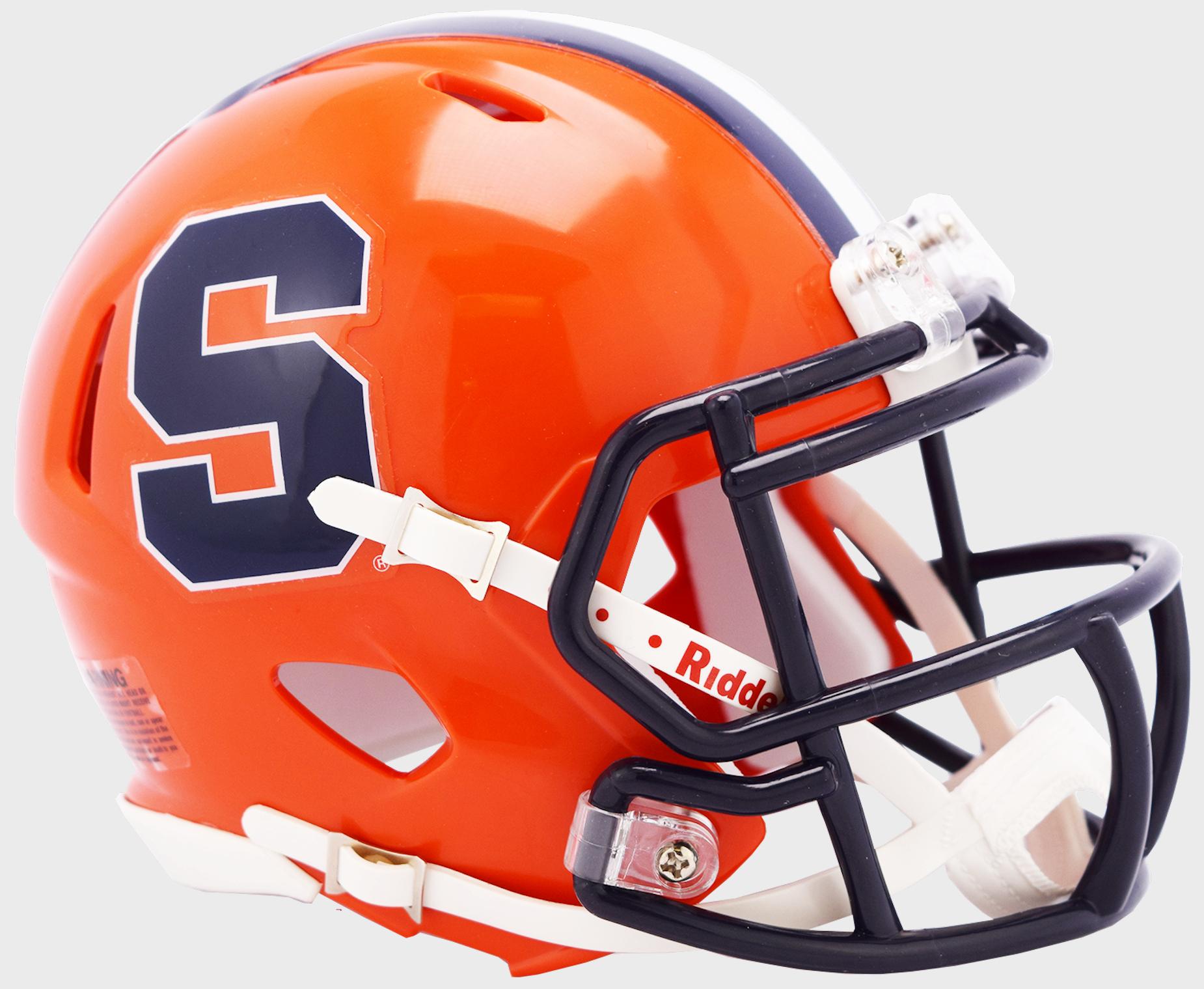 Syracuse Orangemen NCAA Mini Speed Football Helmet <B>2019</B>