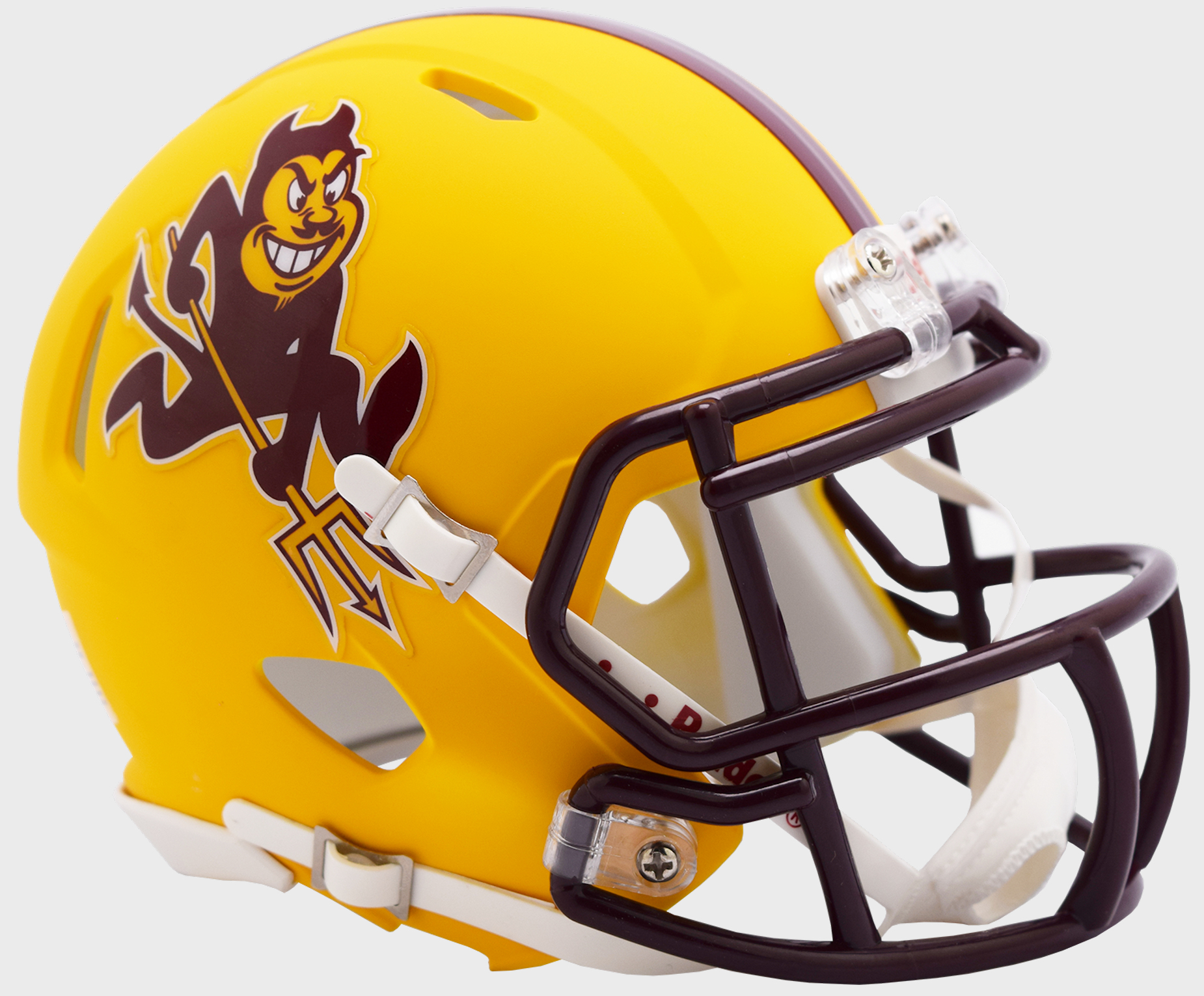 Arizona State Sun Devils NCAA Mini Speed Football Helmet <B>Flat Yellow Sparky</B>