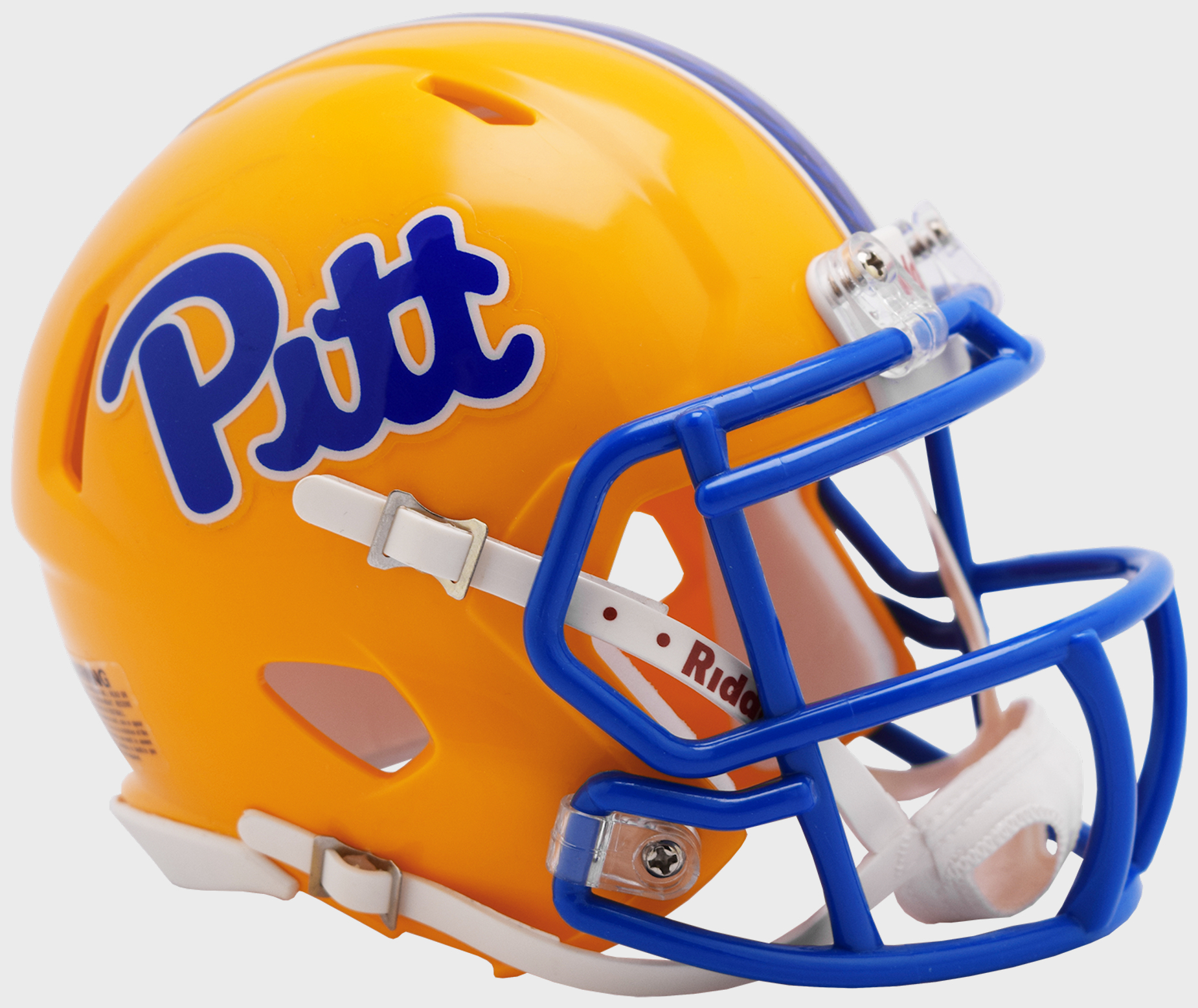 Pittsburgh Panthers NCAA Mini Speed Football Helmet <B>2019 Gold</B>
