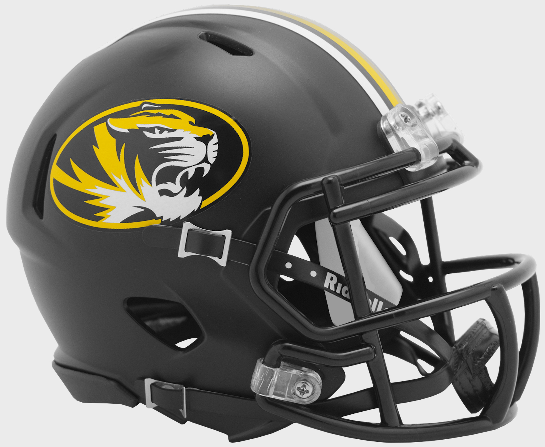 Missouri Tigers NCAA Mini Speed Football Helmet <B>Anodized Black</B>