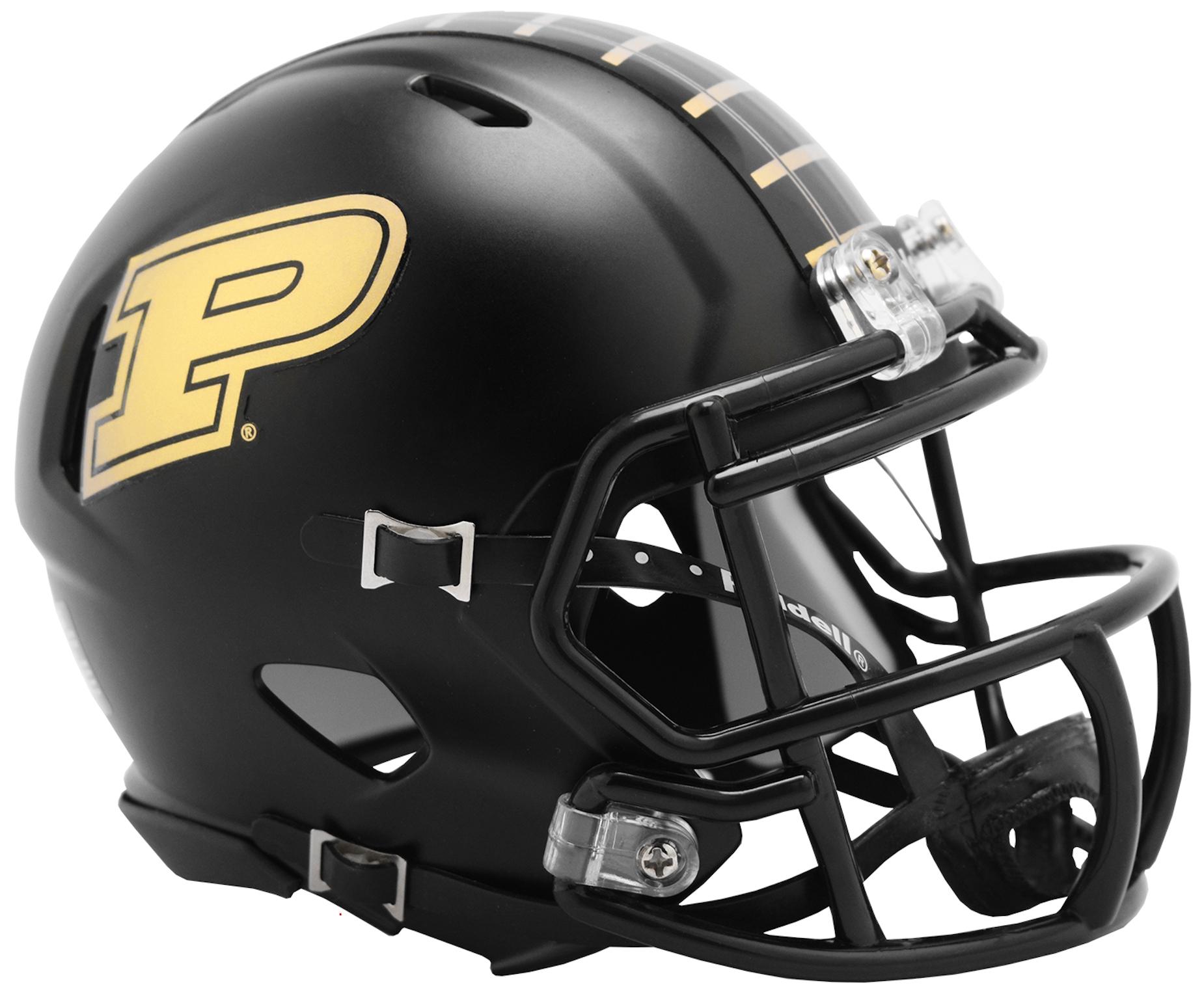 Purdue Boilermakers NCAA Mini Speed Football Helmet <B>2019 Anodized Black</B>