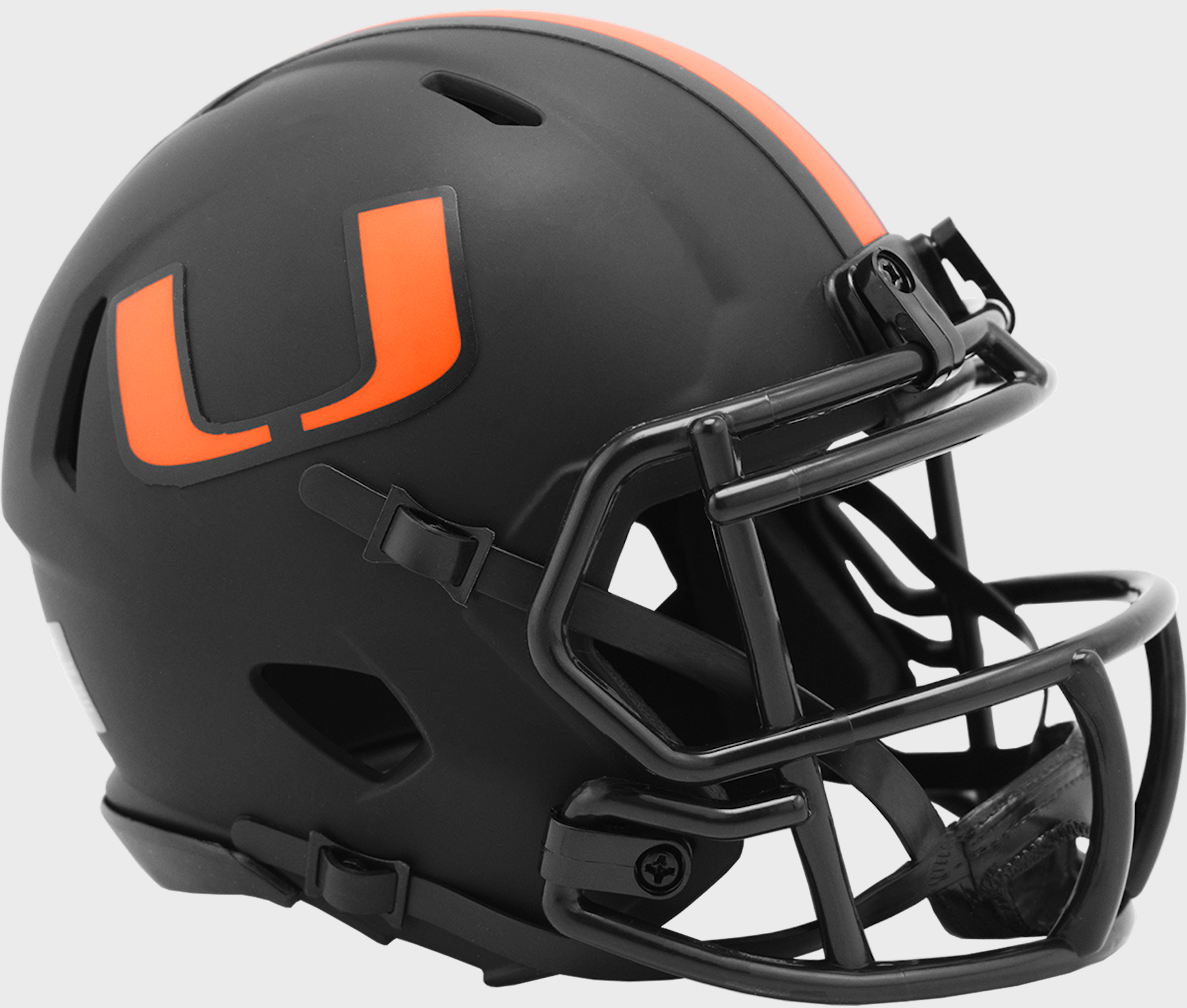 Miami Hurricanes Mini Speed Football Helmet <B>ECLIPSE</B>