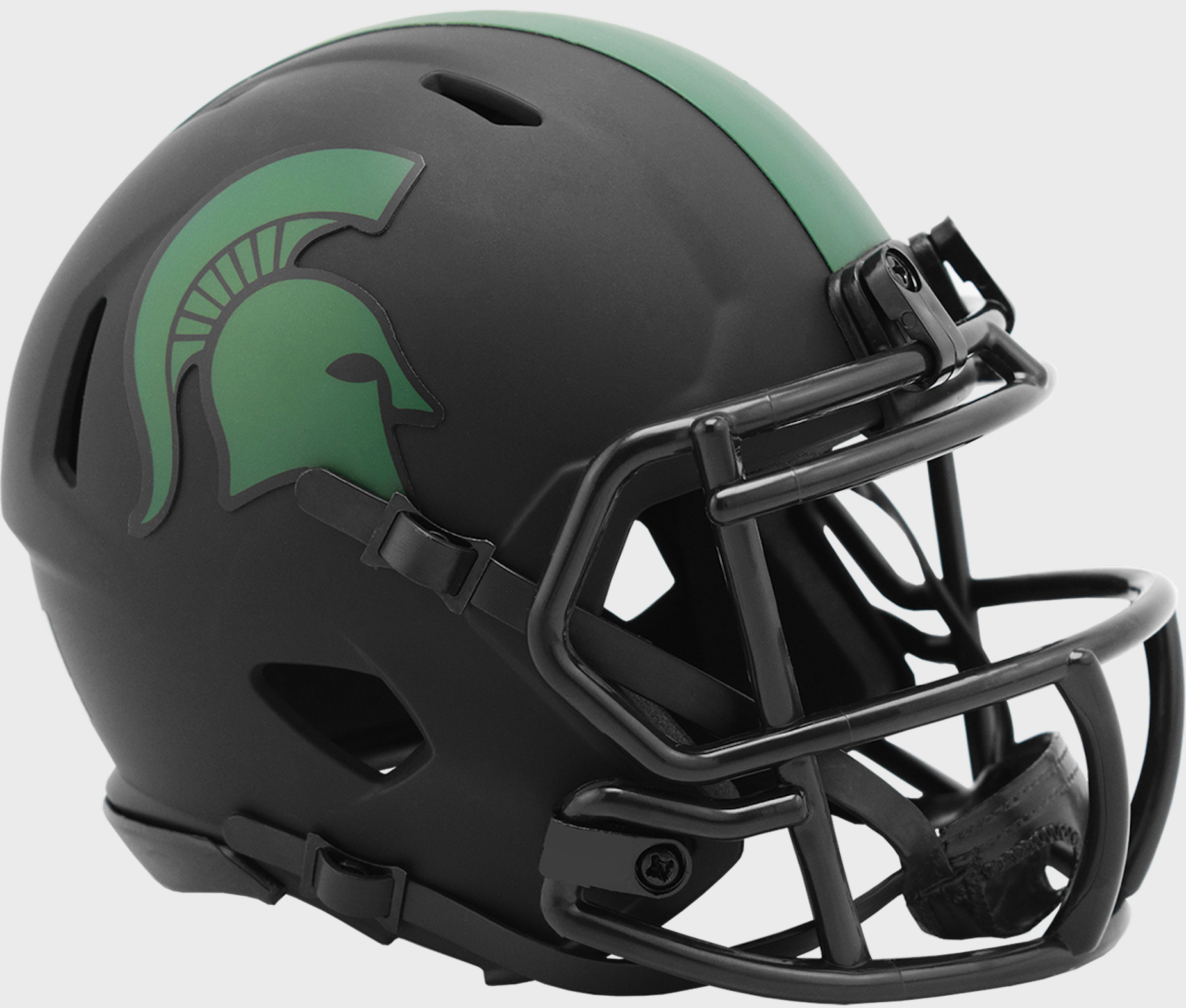 Michigan State Spartans Mini Speed Football Helmet <B>ECLIPSE</B>