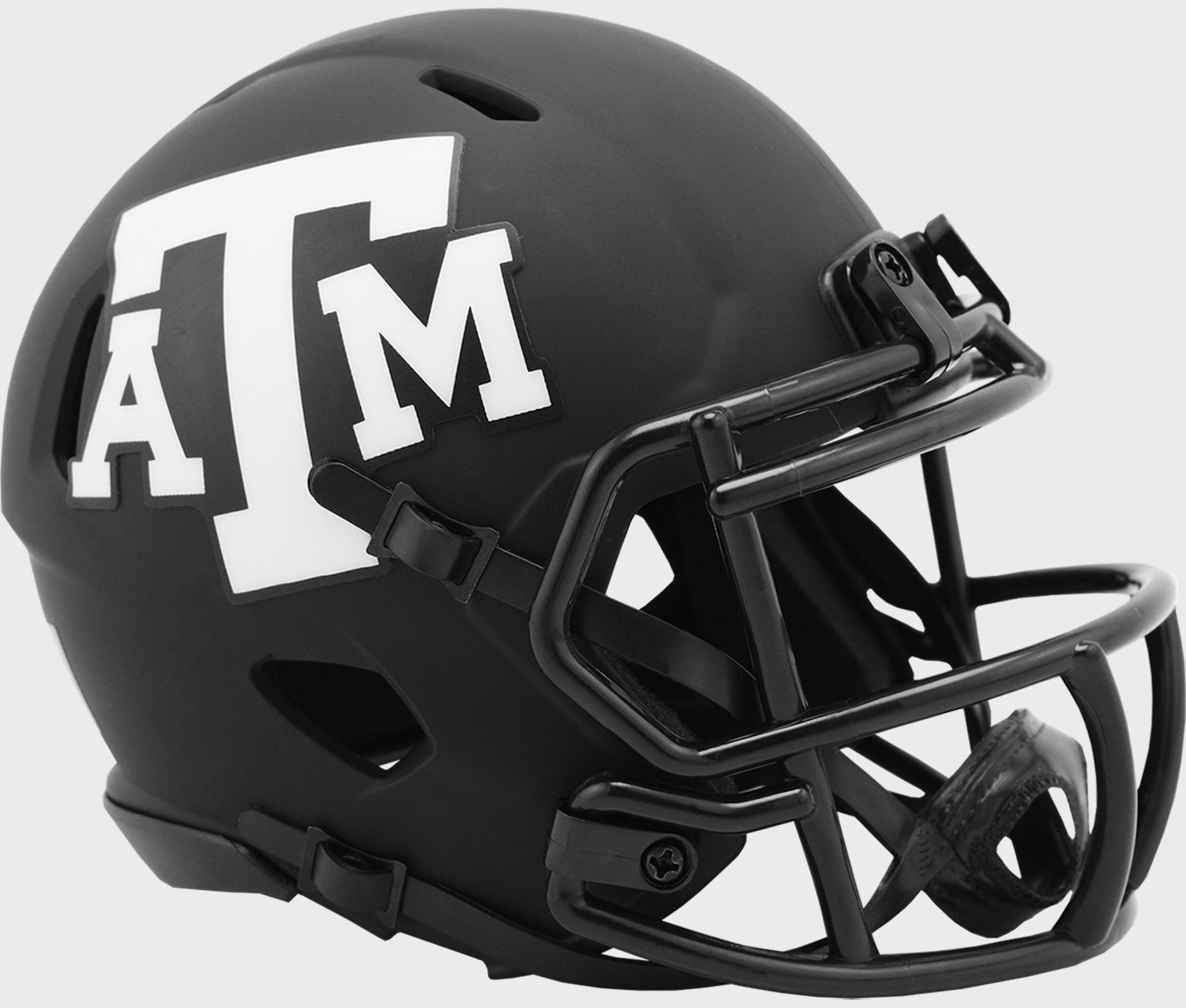 Texas A&M Aggies Mini Speed Football Helmet <B>ECLIPSE</B>