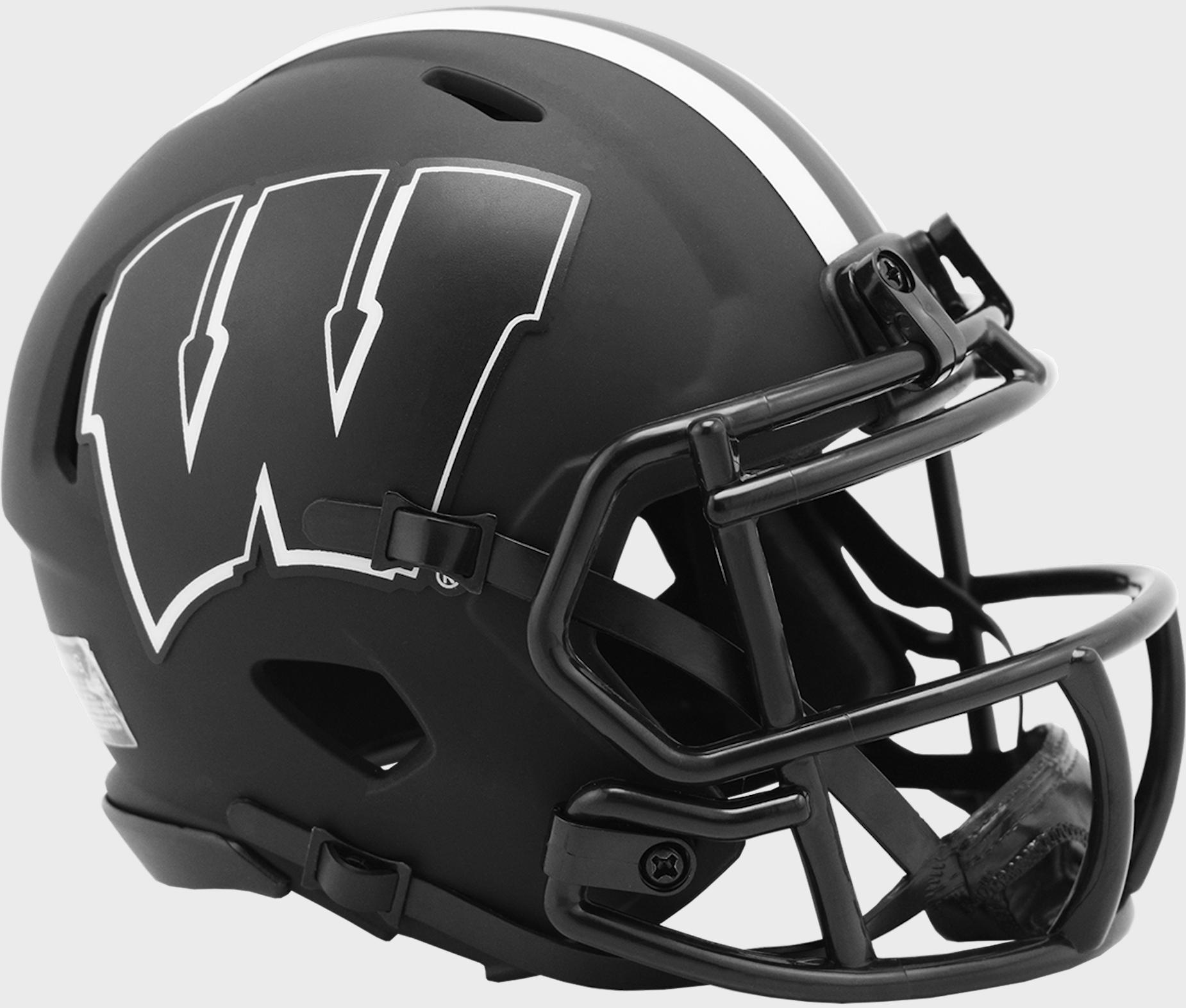 Wisconsin Badgers Mini Speed Football Helmet <B>ECLIPSE</B>