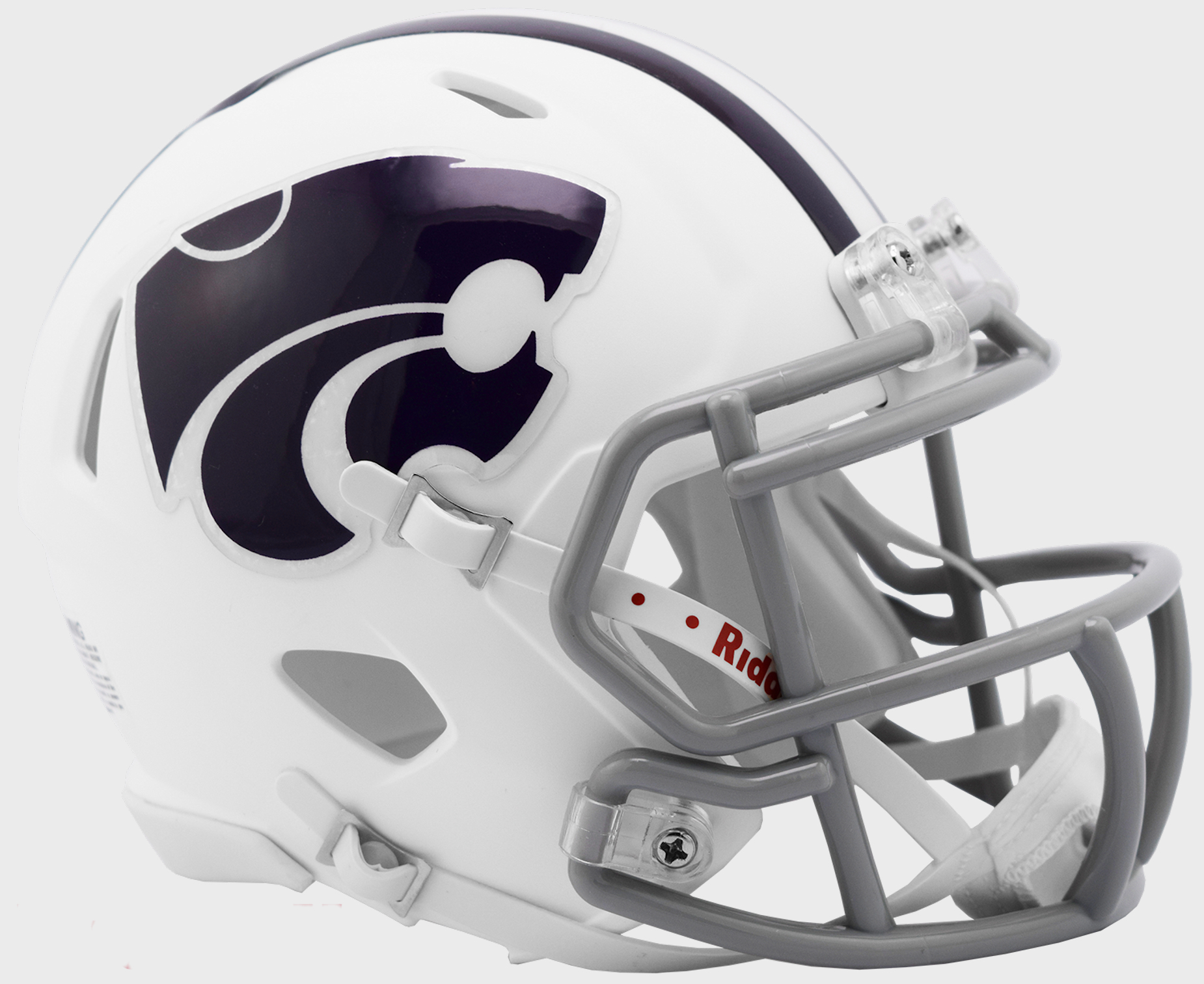 Kansas State Wildcats NCAA Mini Speed Football Helmet <B>White</B>