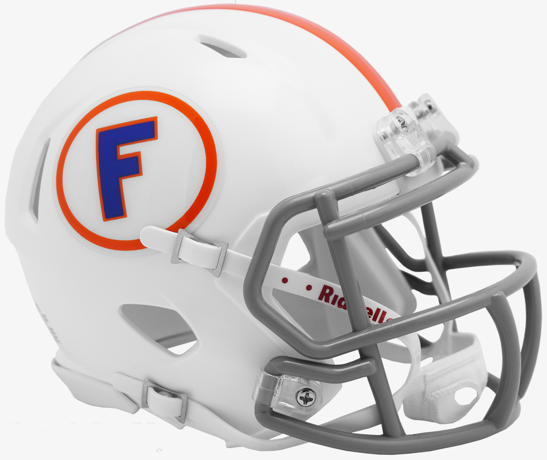 Florida Gators NCAA Mini Speed Throwback Football Helmet <B>White w/Gray Mask</B>