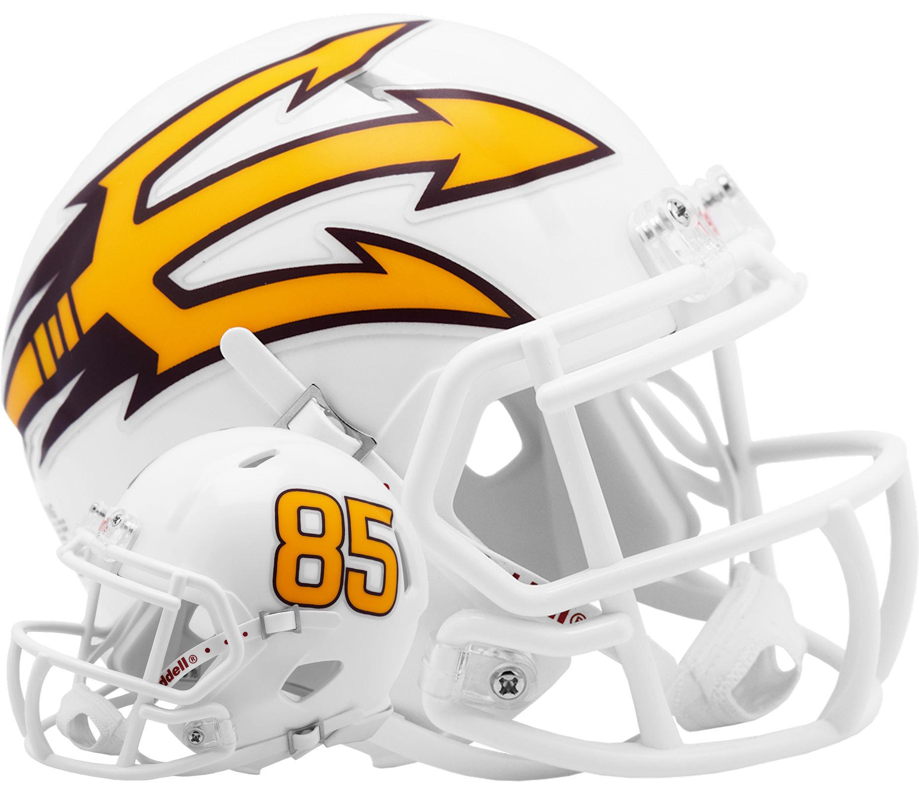 Arizona State Sun Devils NCAA Mini Speed Football Helmet <B>White Metallic</B>