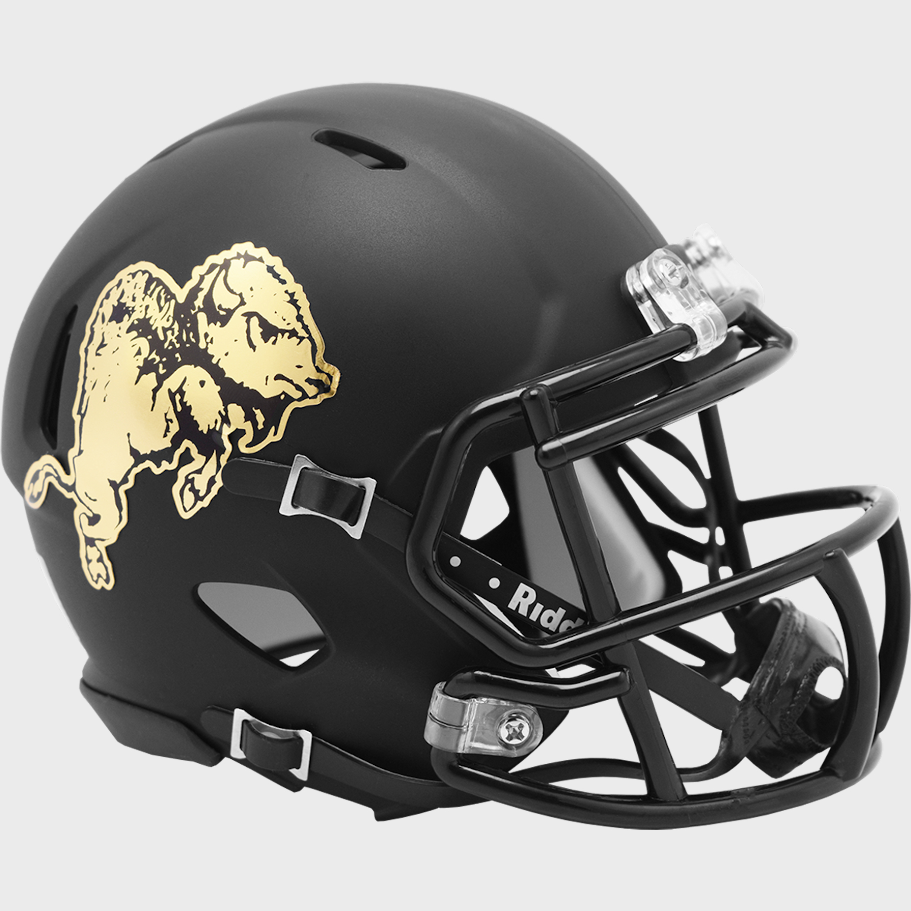 Colorado Buffaloes NCAA Mini Speed Football Helmet <B>2019 Chrome Buffalo</B>