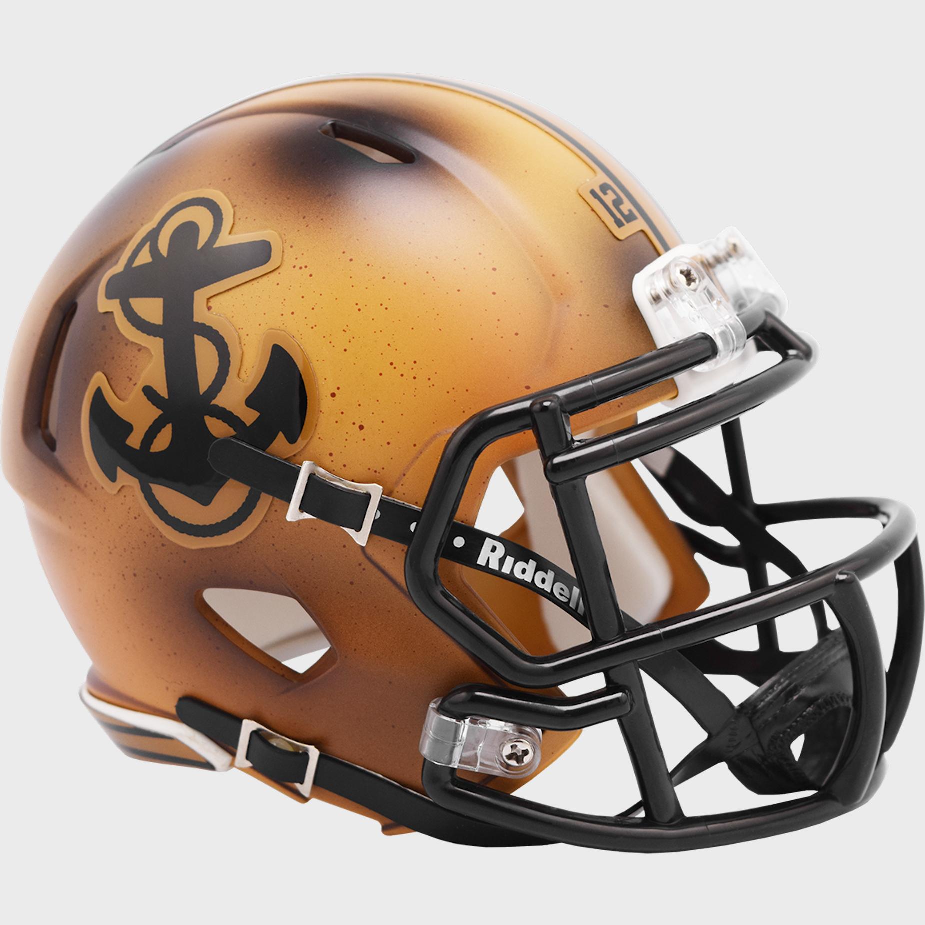 Navy Midshipmen NCAA Mini Speed Football Helmet <B>2019 Bowl Limited Edition</B>