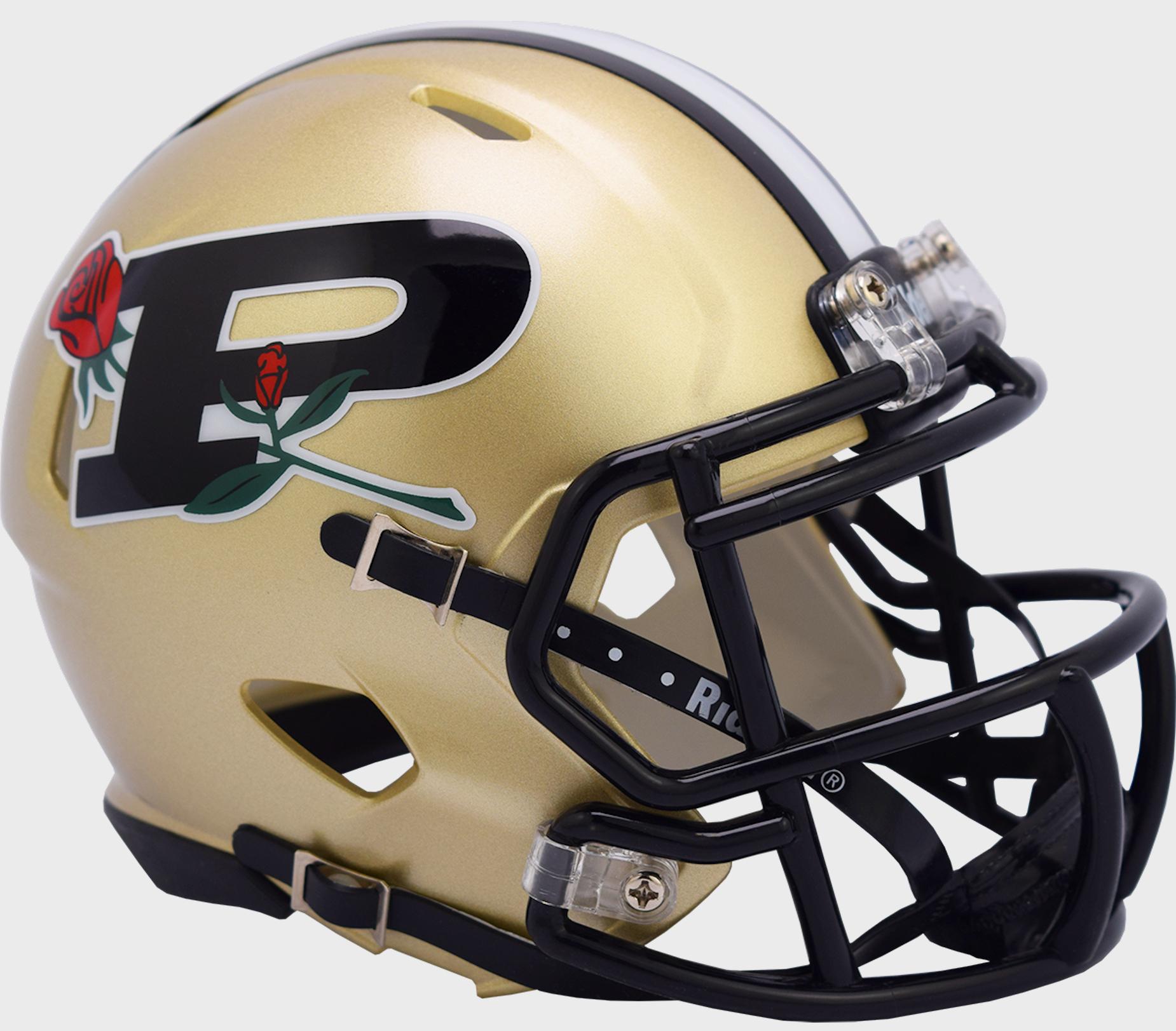 Purdue Boilermakers NCAA Mini Speed Football Helmet <B>20th anniv Rose Bowl</B>